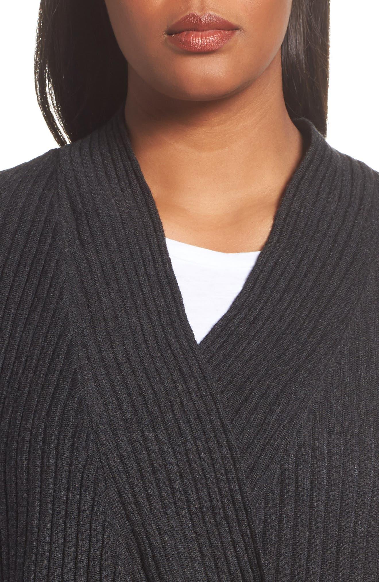 Ribbed Merino Wool Long Cardigan,                             Alternate thumbnail 14, color,