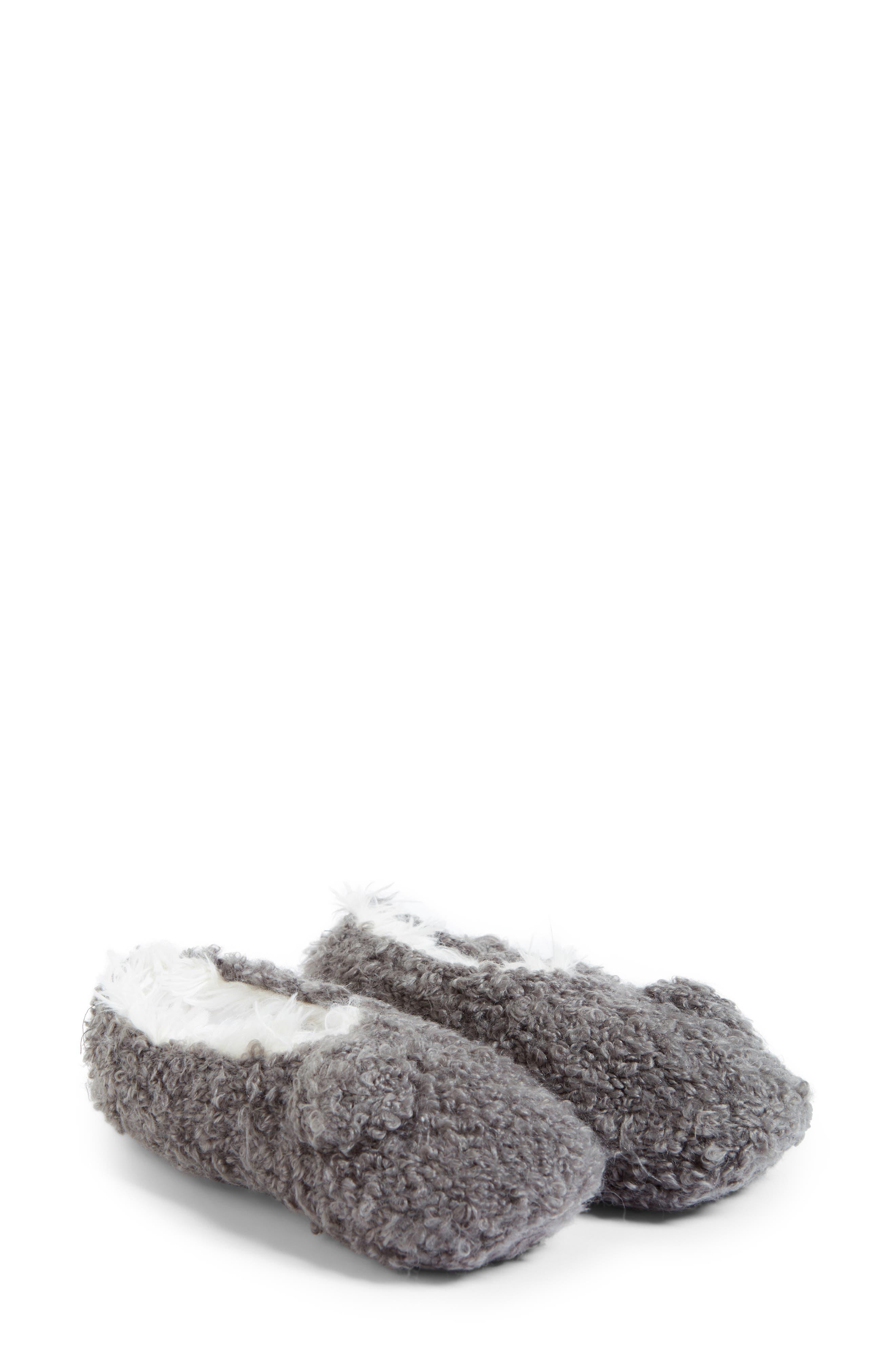 Teddy Bear Bootie Slipper Socks,                             Alternate thumbnail 2, color,                             020