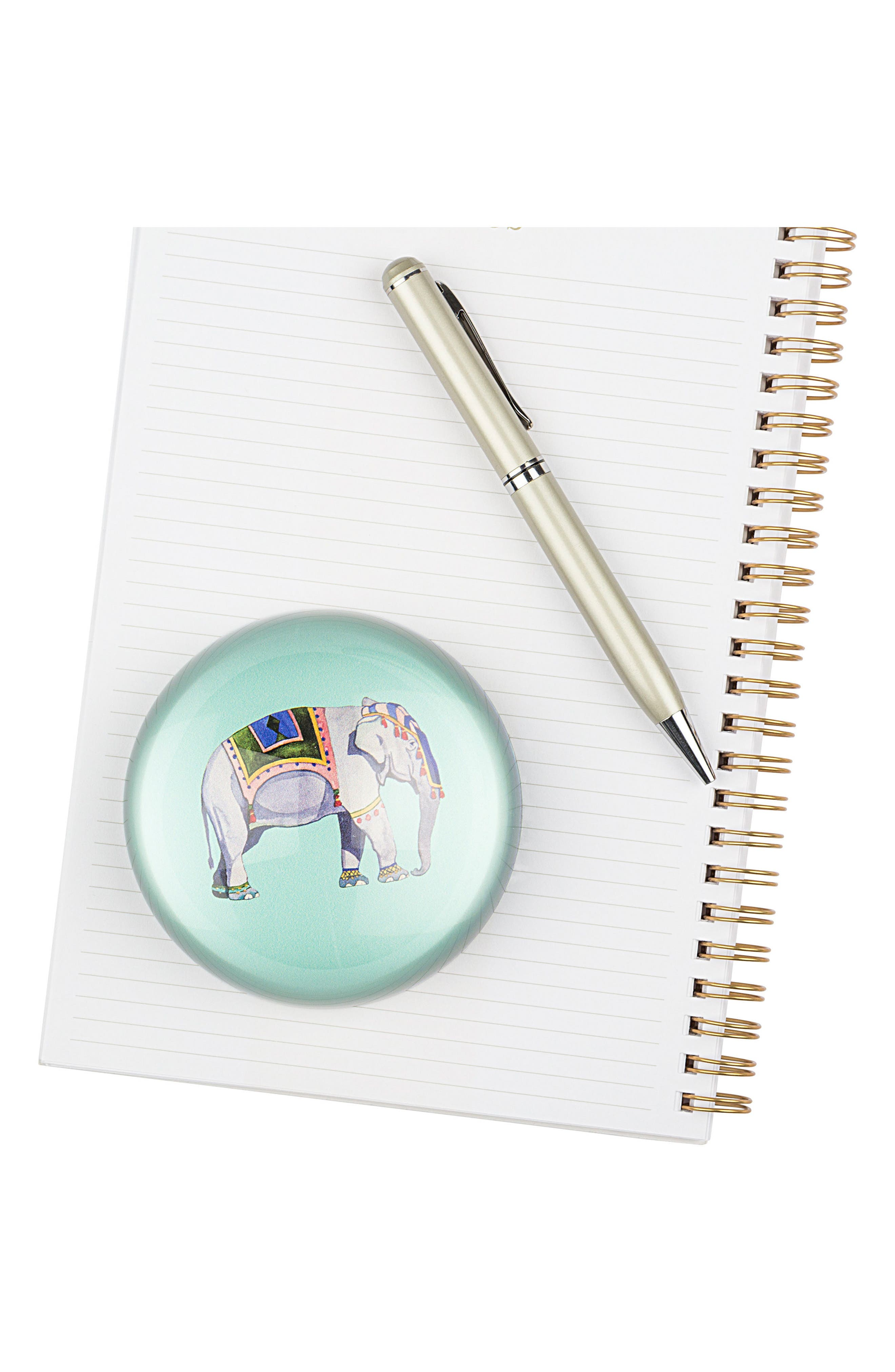 Elephant Domed Glass Paperweight,                             Alternate thumbnail 2, color,                             400