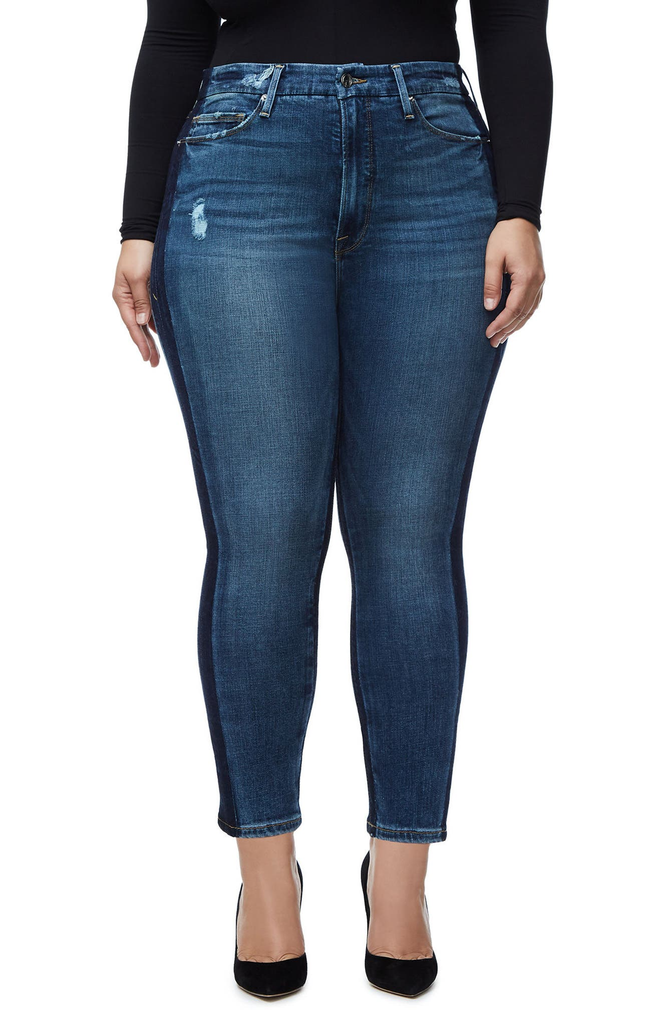 Good Waist Ankle Skinny Jeans,                             Main thumbnail 1, color,                             401