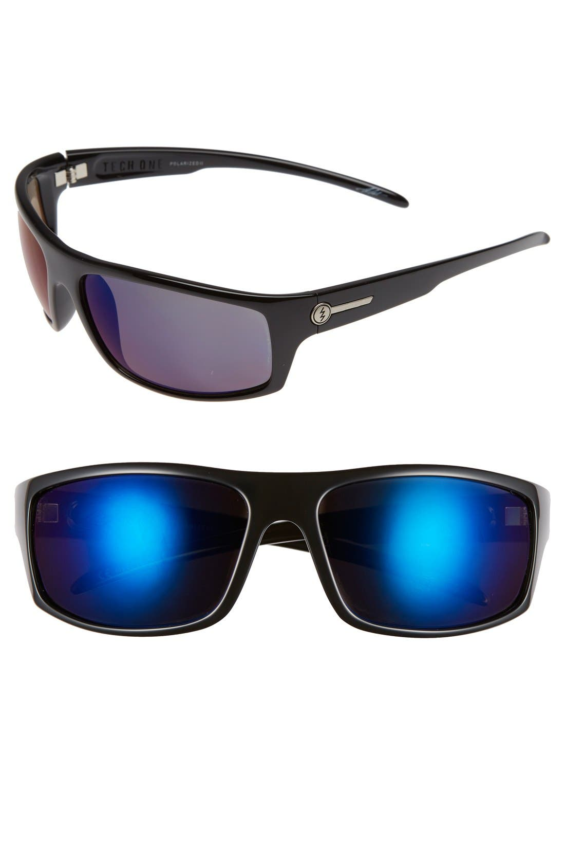 'Tech One' 64mm Polarized Sunglasses,                         Main,                         color, 001