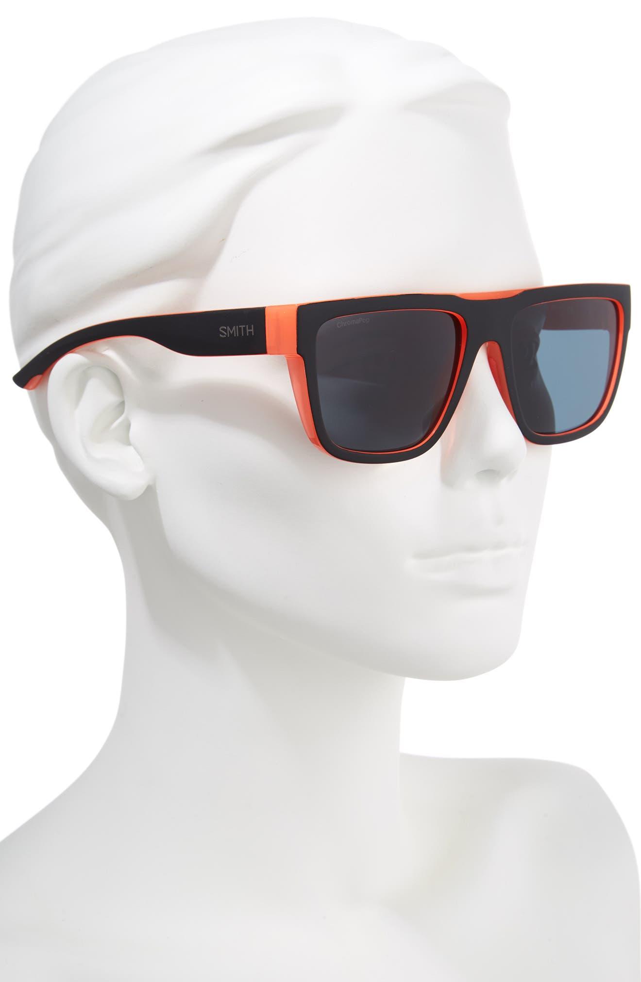 The Comeback 58mm ChromaPop<sup>™</sup> Square Sunglasses,                             Alternate thumbnail 2, color,                             BLACK/ SUNBURST