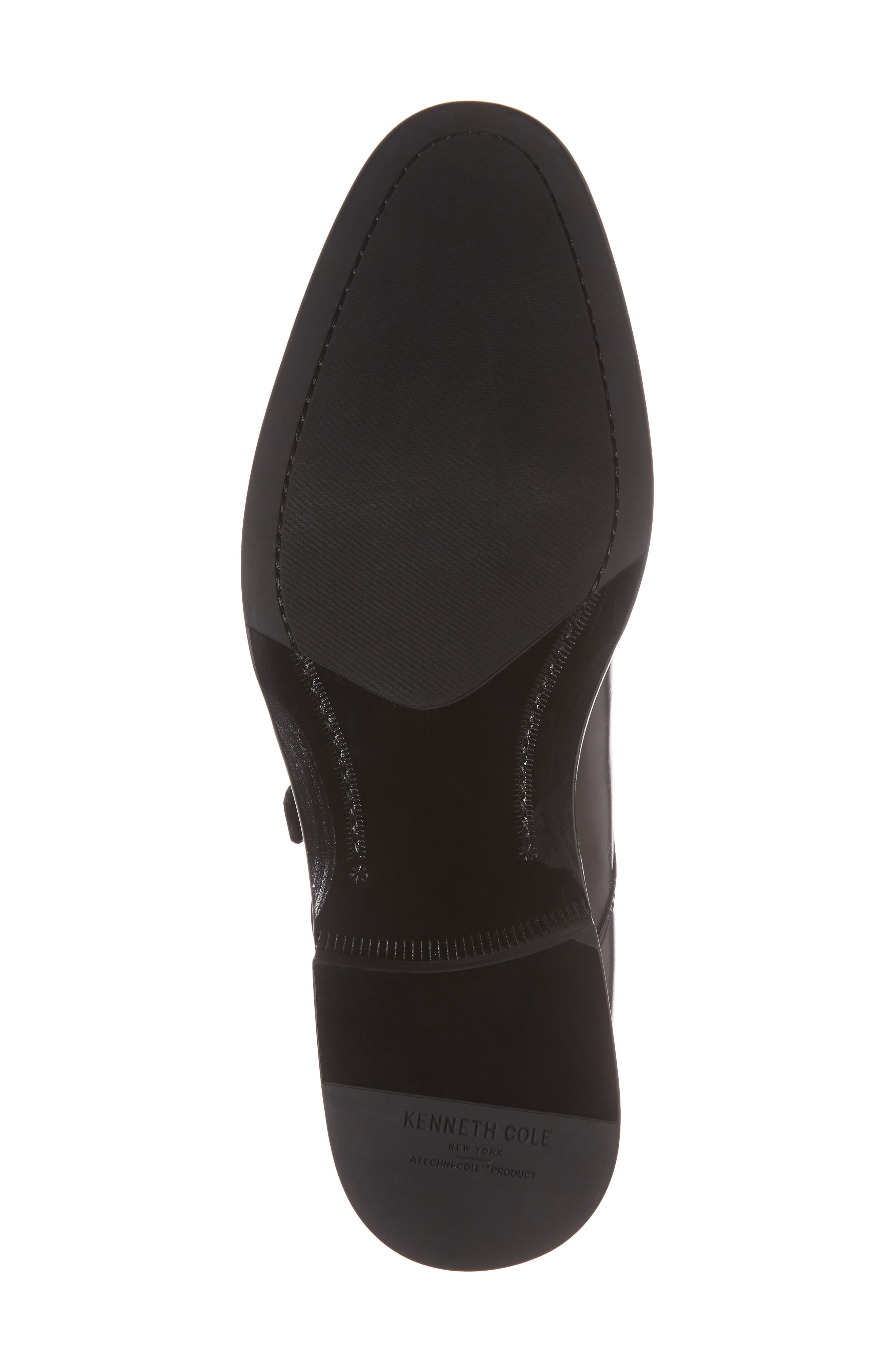 Tully Single Buckle Monk Shoe,                             Alternate thumbnail 6, color,                             BLACK LEATHER