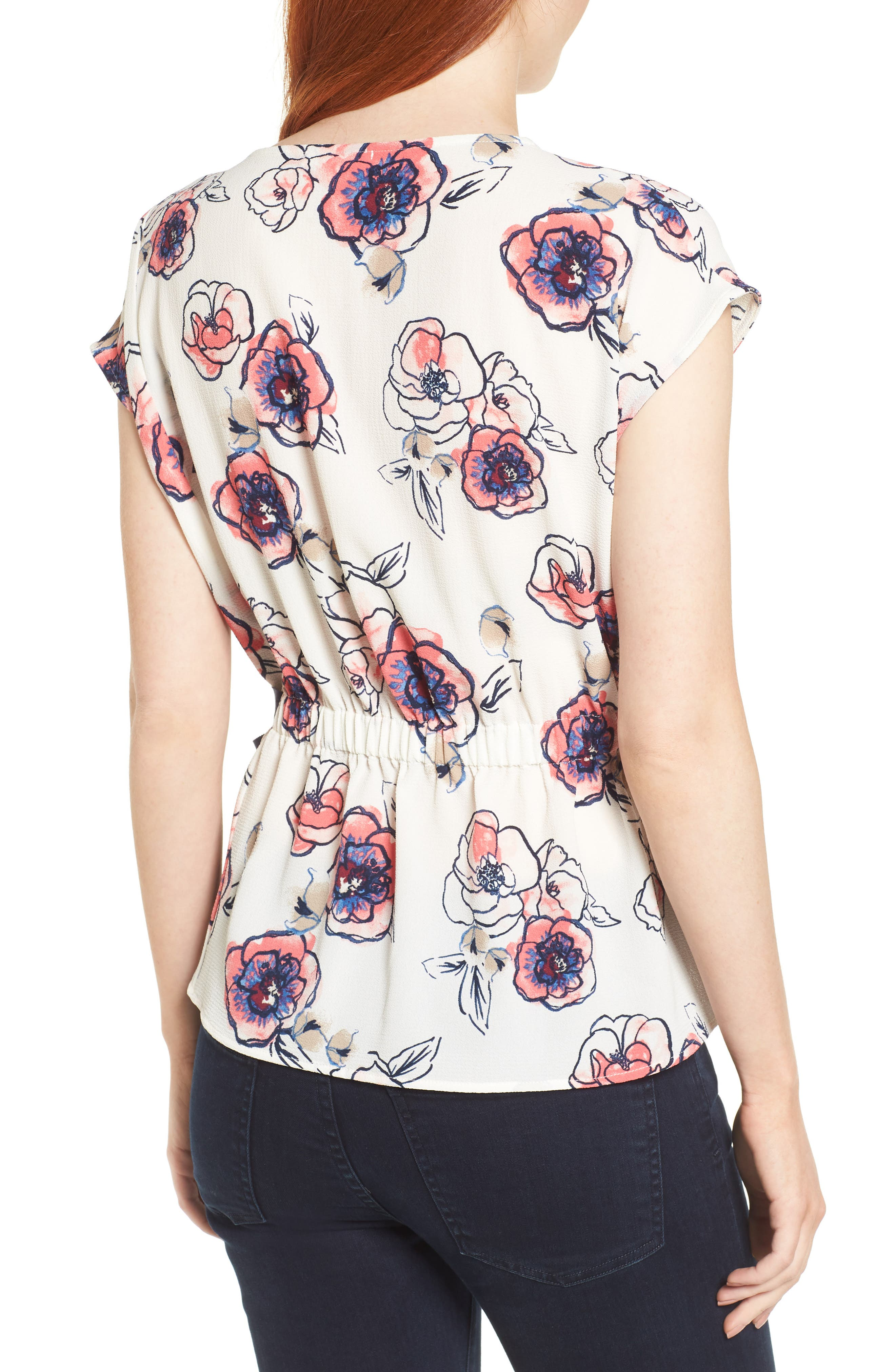 Gathered Waist Side Tie Top,                             Alternate thumbnail 11, color,