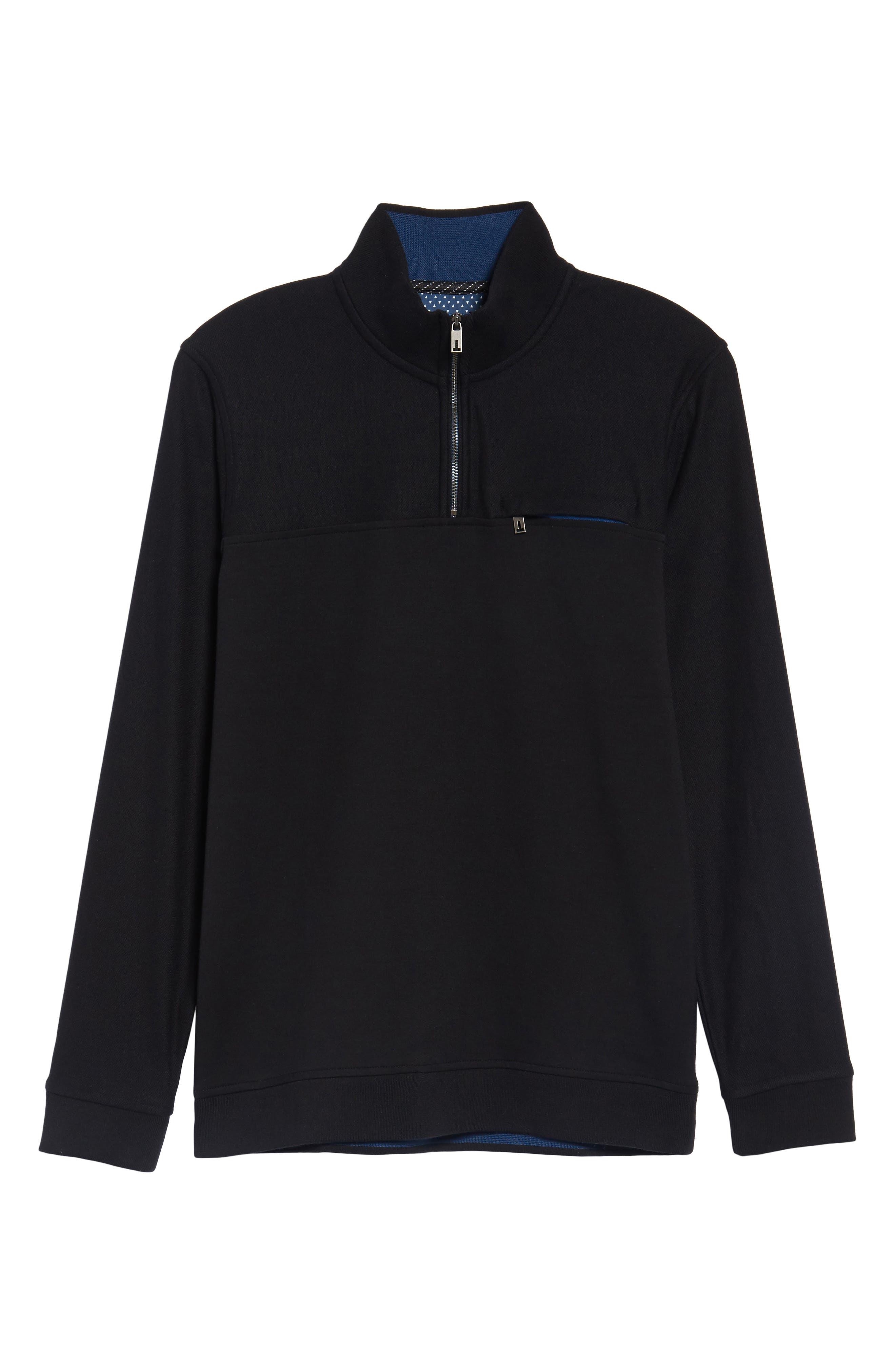 Livstay Slim Fit Quarter Zip Pullover,                             Alternate thumbnail 6, color,                             001