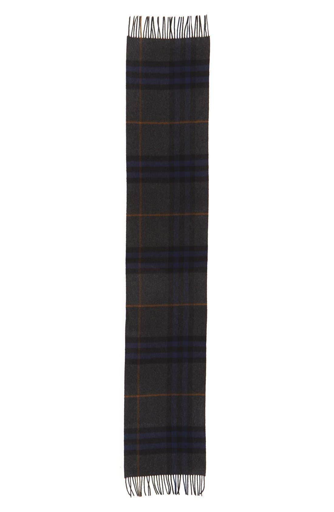Heritage Check Cashmere Scarf,                             Alternate thumbnail 26, color,