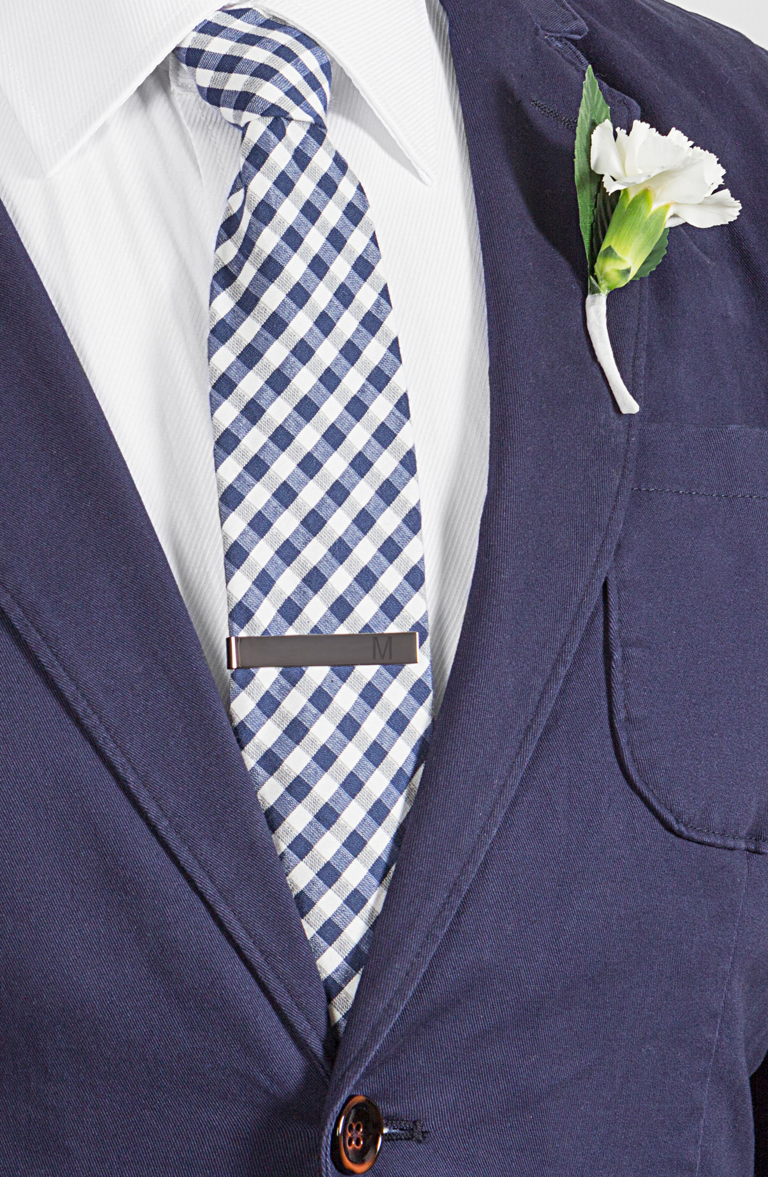 Monogram Tie Clip,                             Alternate thumbnail 3, color,                             GREY