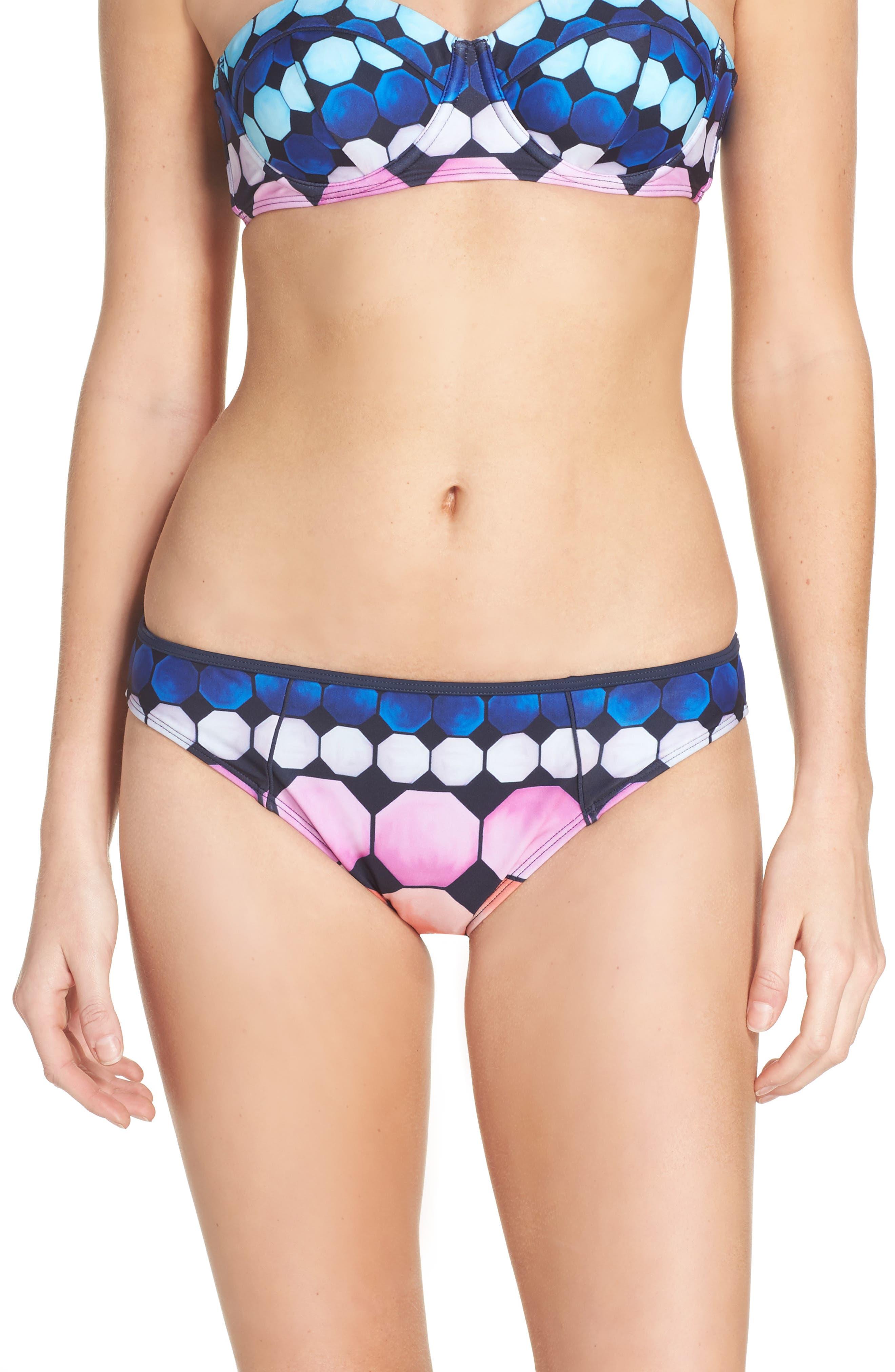 Marina Mosaic Bikini Bottoms,                             Main thumbnail 1, color,                             410