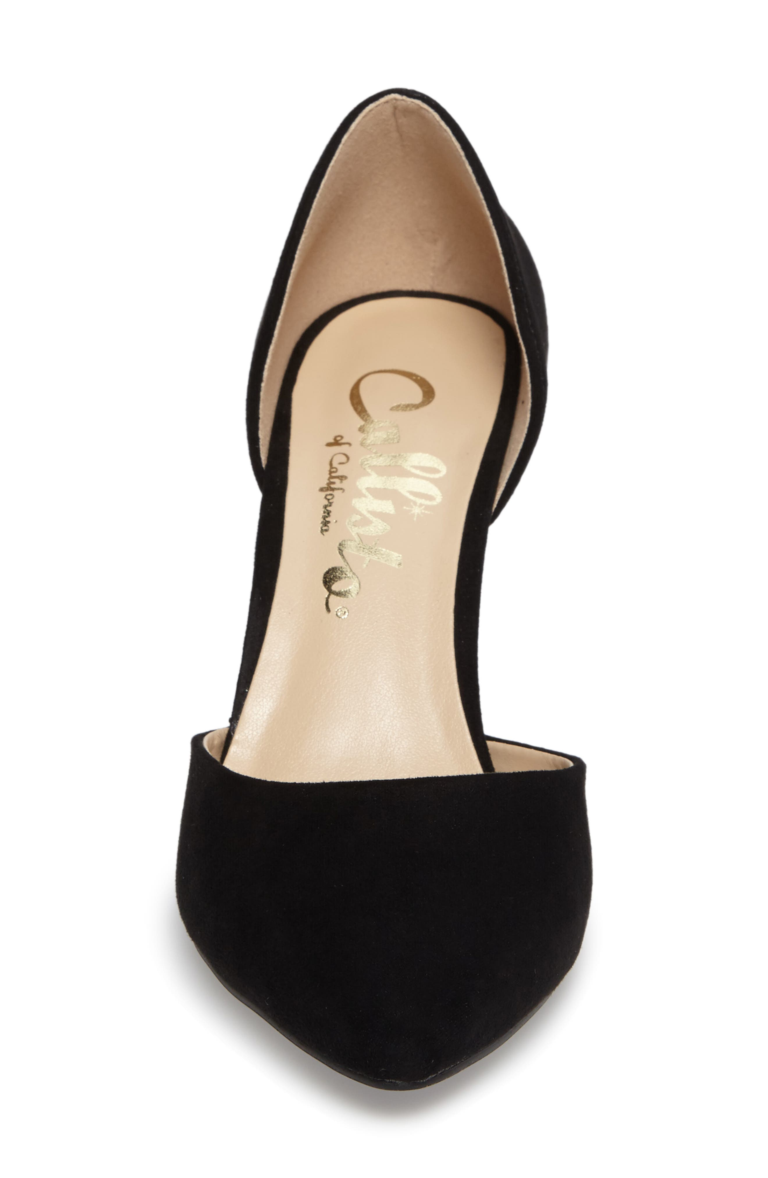 Felicitas d'Orsay Pump,                             Alternate thumbnail 4, color,                             BLACK SYNTHETIC