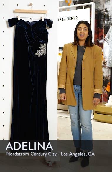 Off Shoulder Velvet Gown, sales video thumbnail
