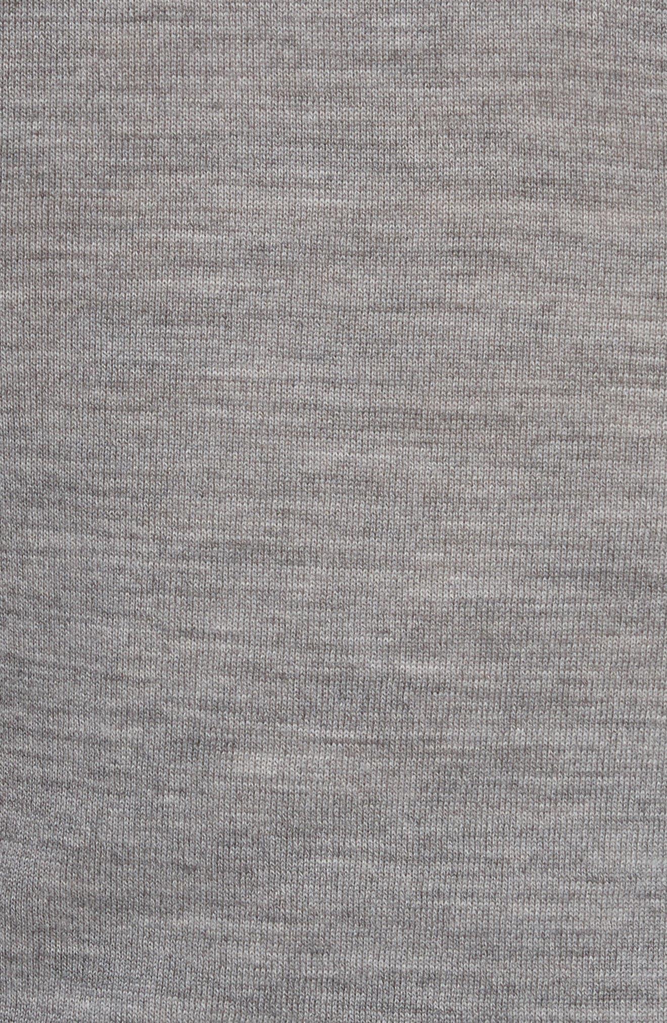 T by Alexander Wang Knit Merino Wool Layered Top,                             Alternate thumbnail 5, color,                             032