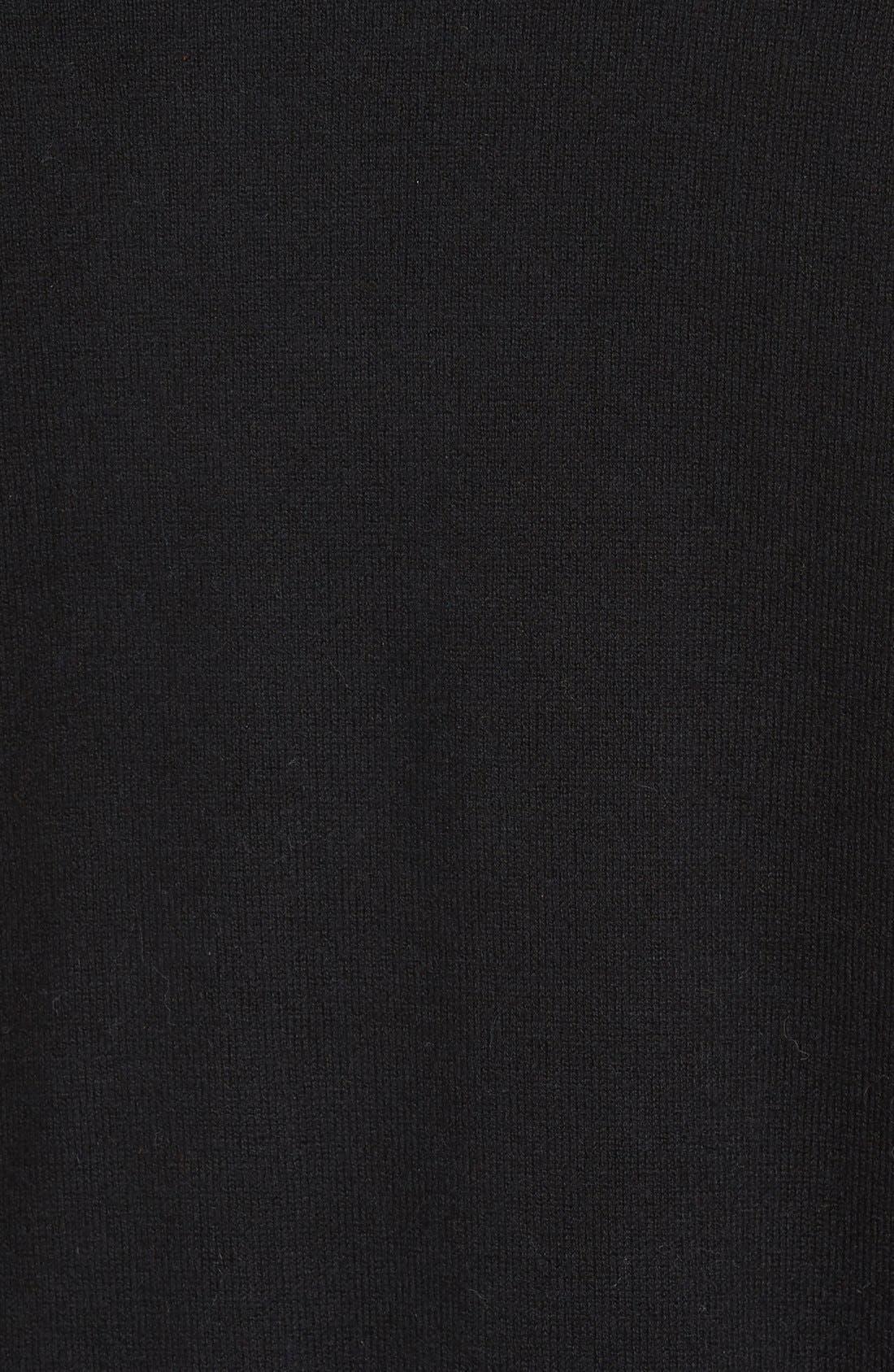 'Jersey Sport' Cotton Blend Crewneck Sweater,                             Alternate thumbnail 5, color,                             001