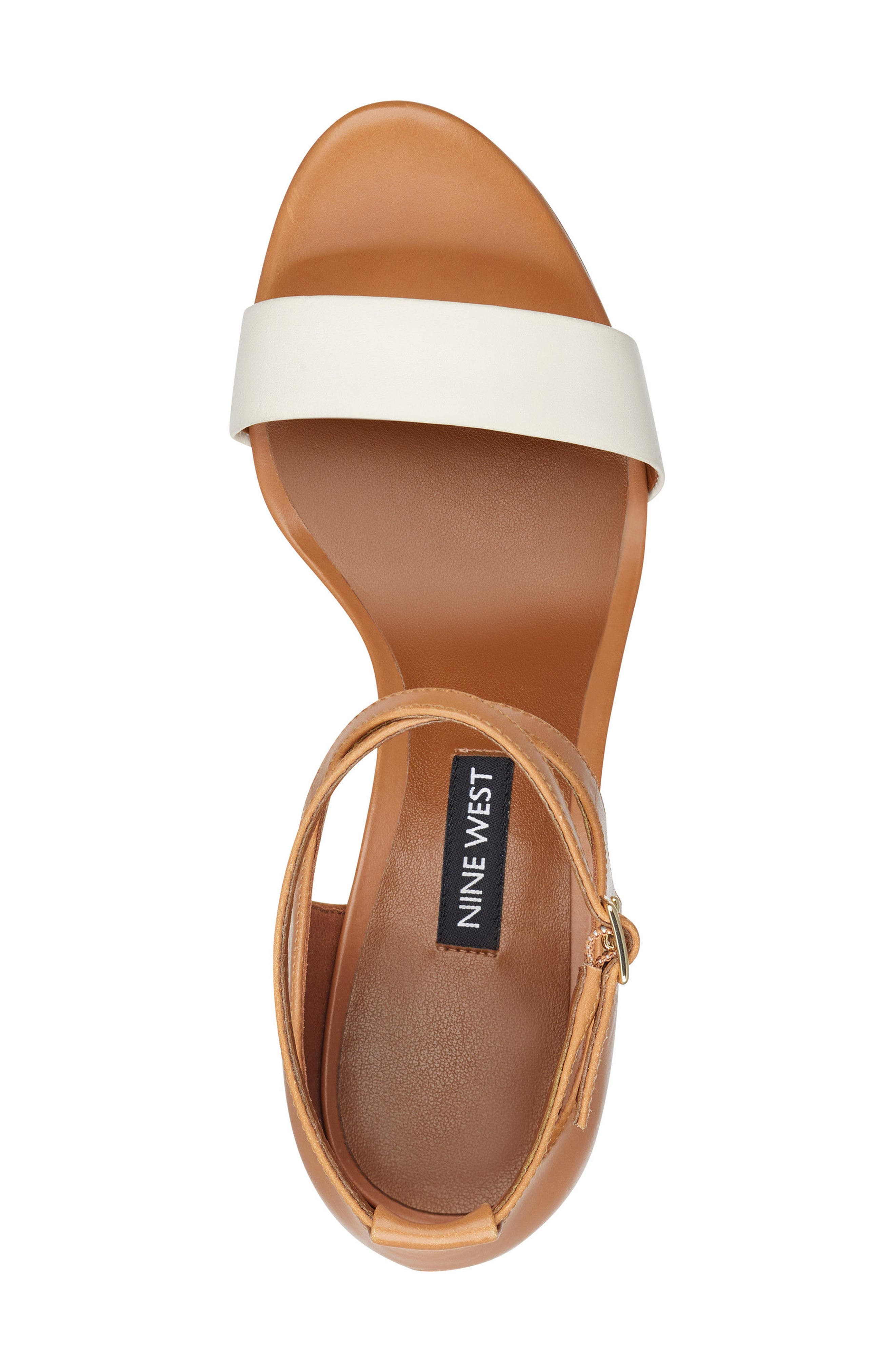 Nunzaya Ankle Strap Sandal,                             Alternate thumbnail 5, color,                             OFF WHITE/ NATURAL LEATHER