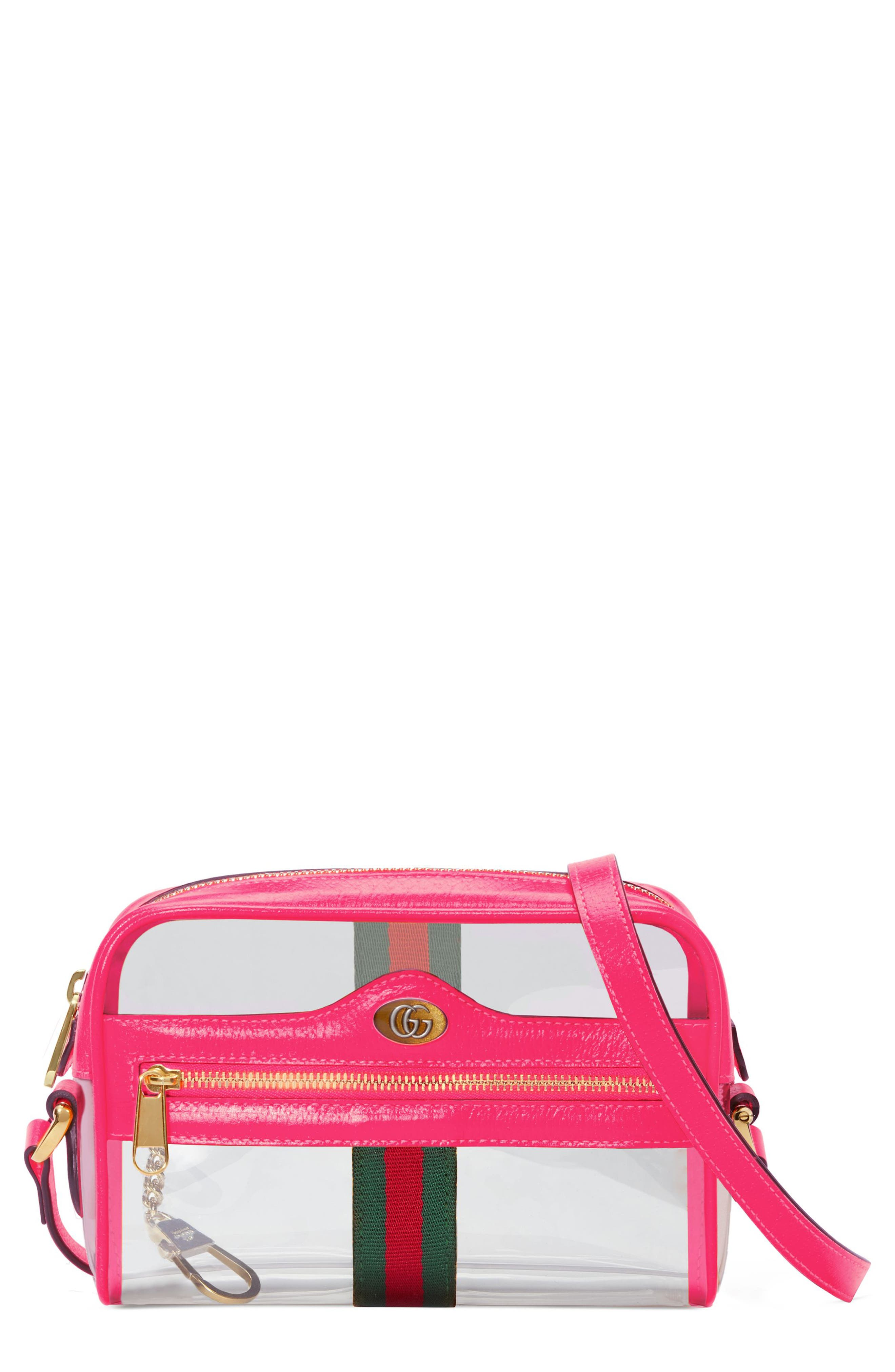 Mini Ophidia Transparent Convertible Bag,                             Main thumbnail 1, color,                             650