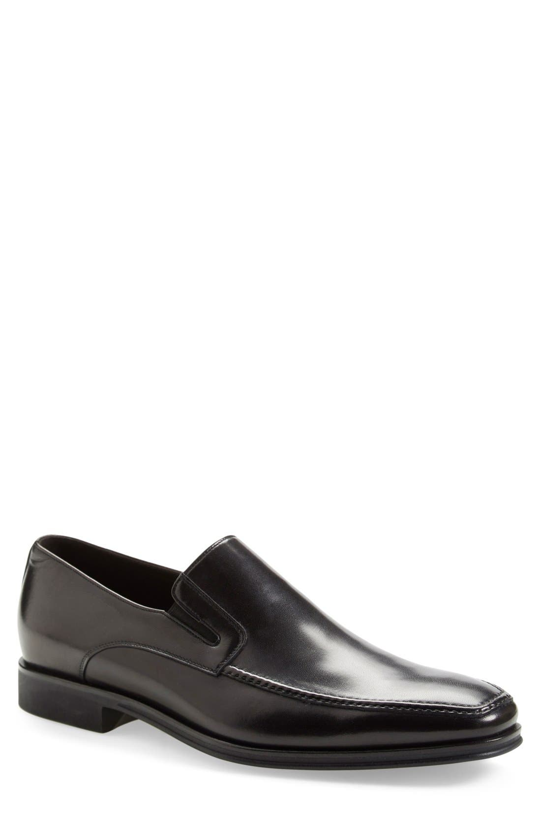 Lucca Nappa Leather Loafer,                         Main,                         color, BLACK