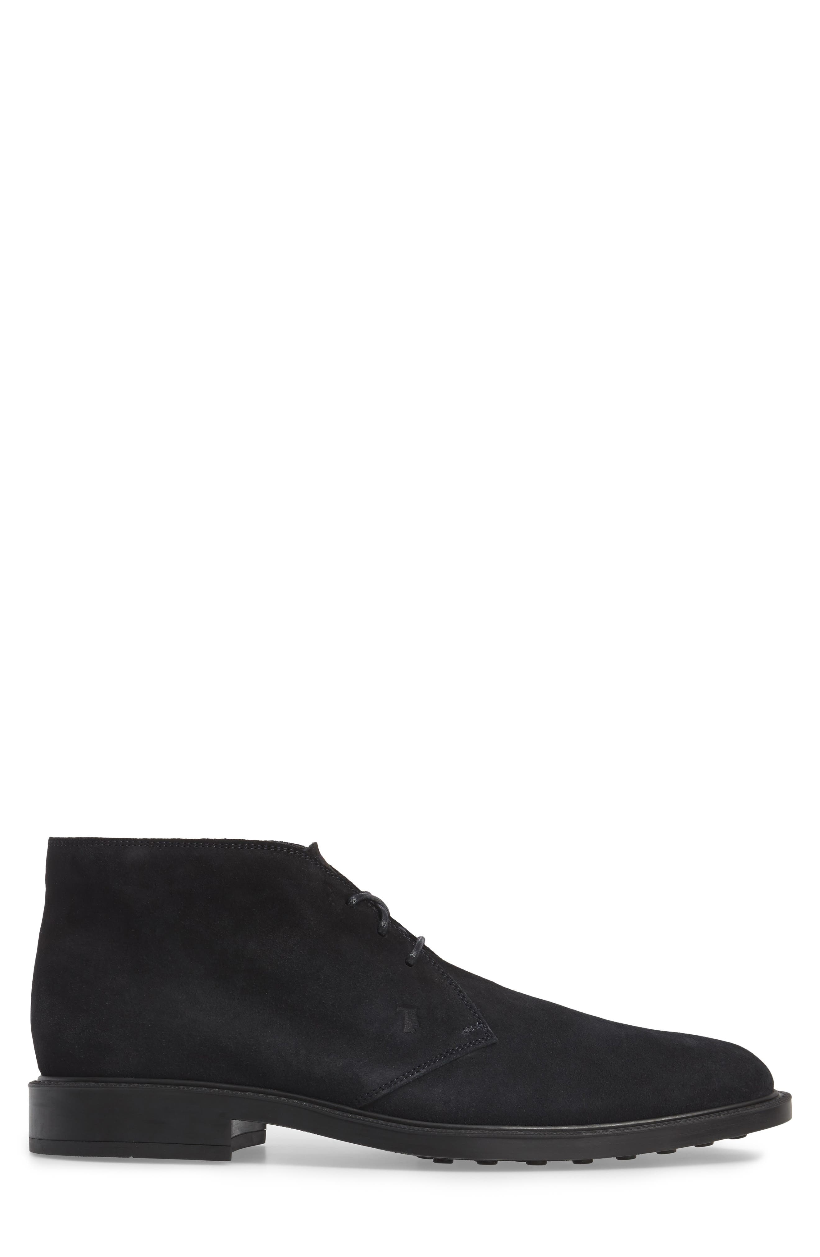 TOD'S,                             'Polacco' Chukka Boot,                             Alternate thumbnail 3, color,                             NAVY SUEDE