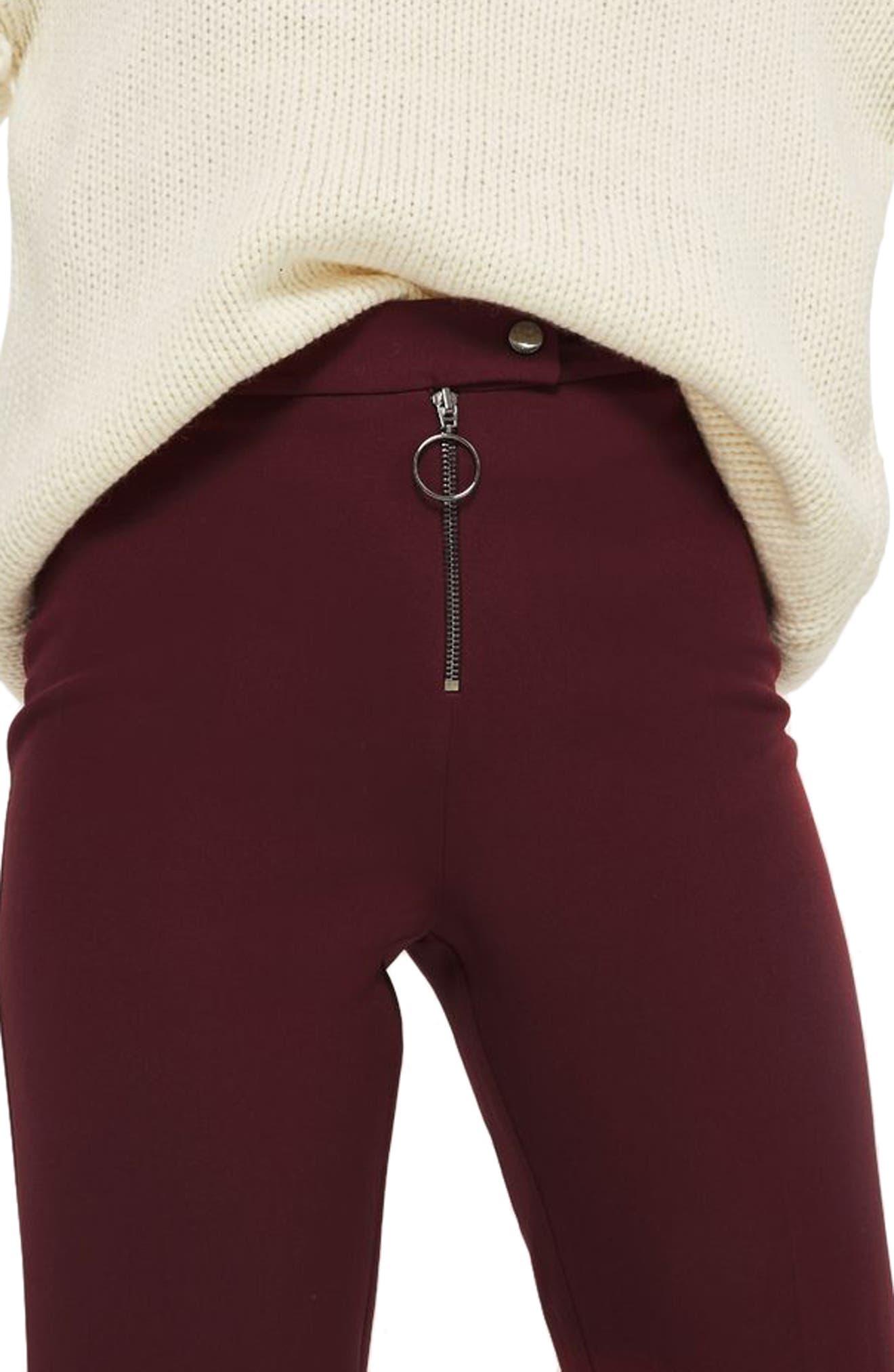 Exposed Zip Kick Flare Pants,                             Main thumbnail 1, color,                             930