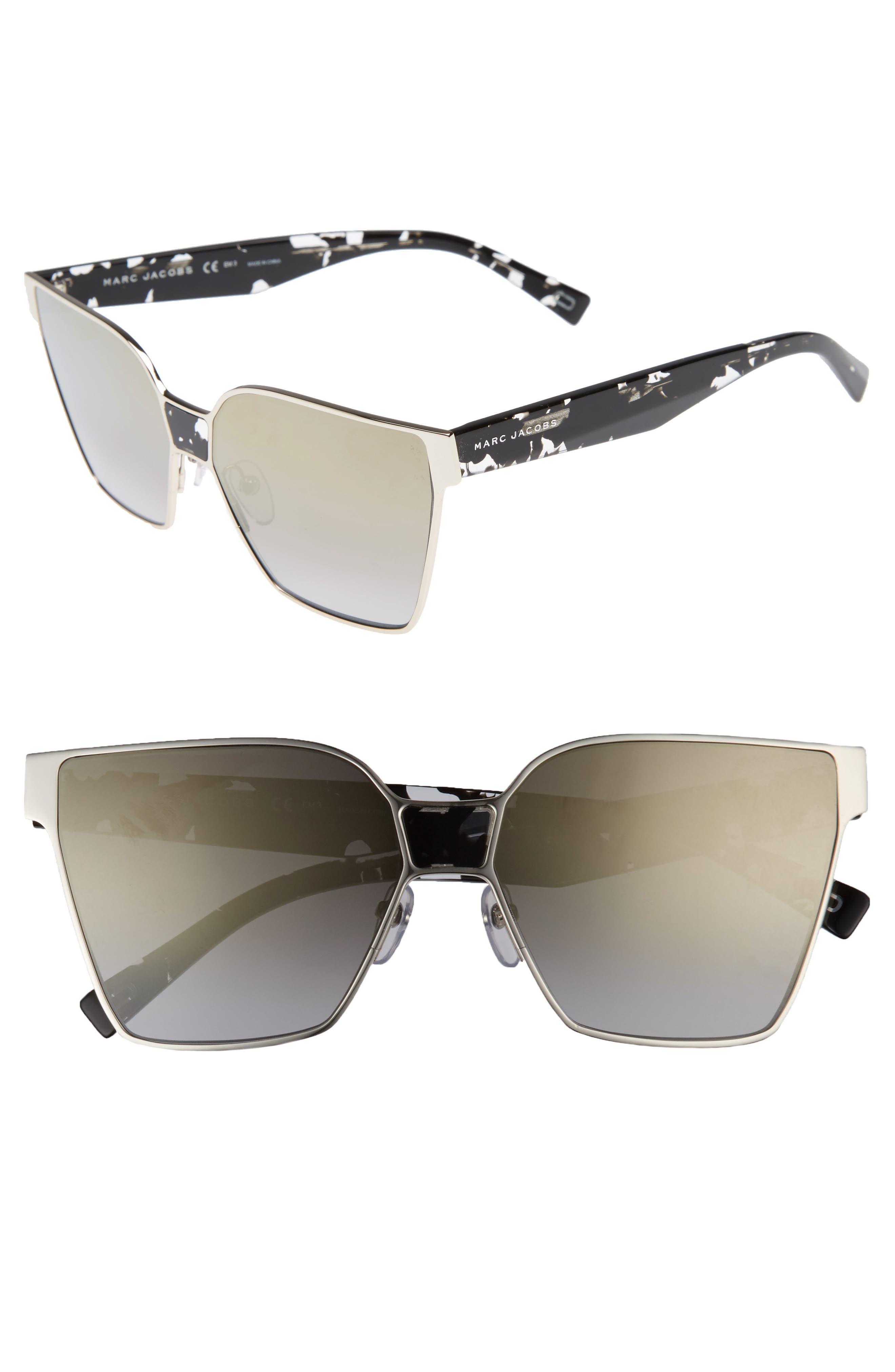 60mm Square Sunglasses,                             Main thumbnail 4, color,