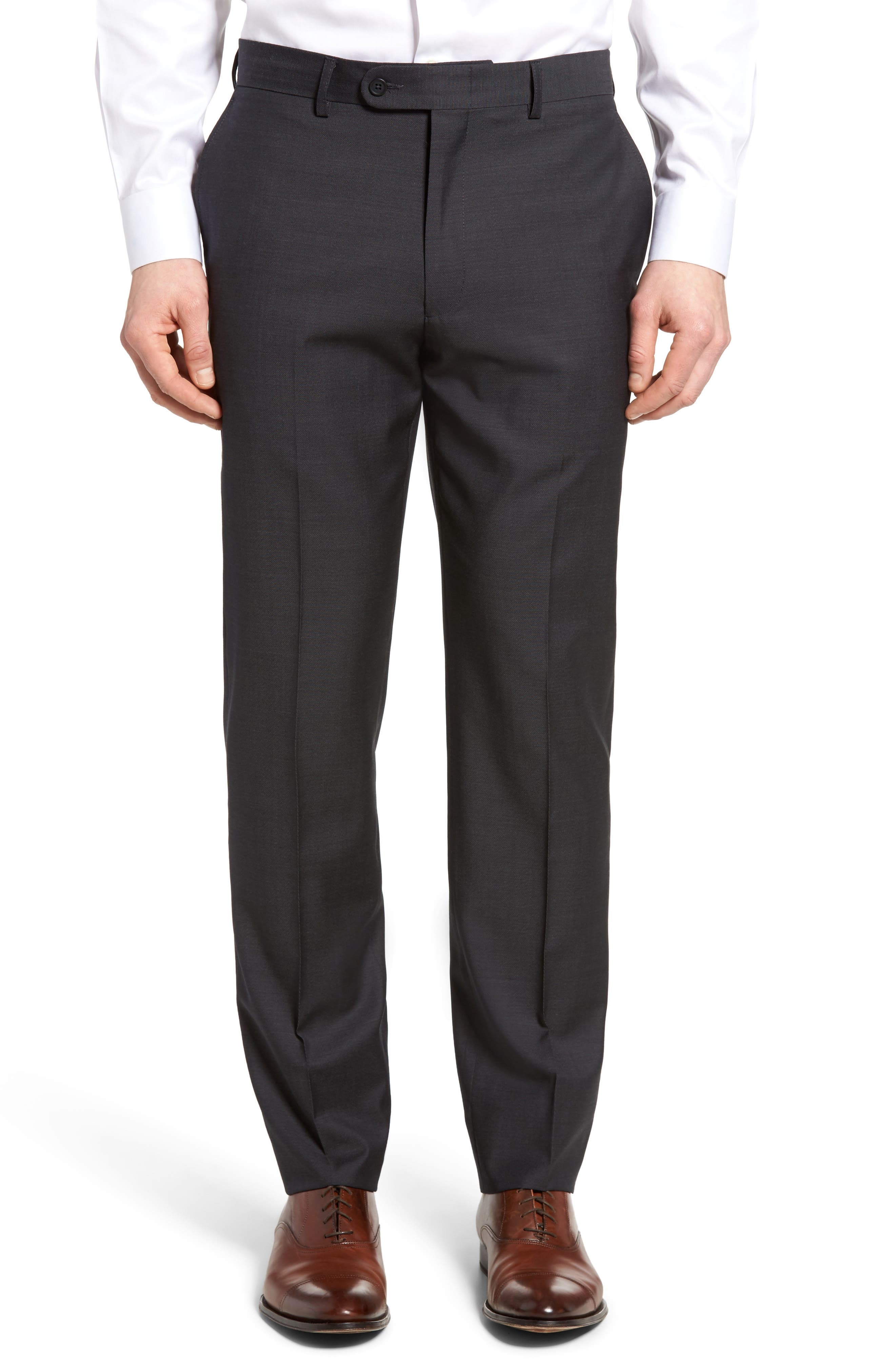 Pin Dot Wool Trousers,                         Main,                         color,