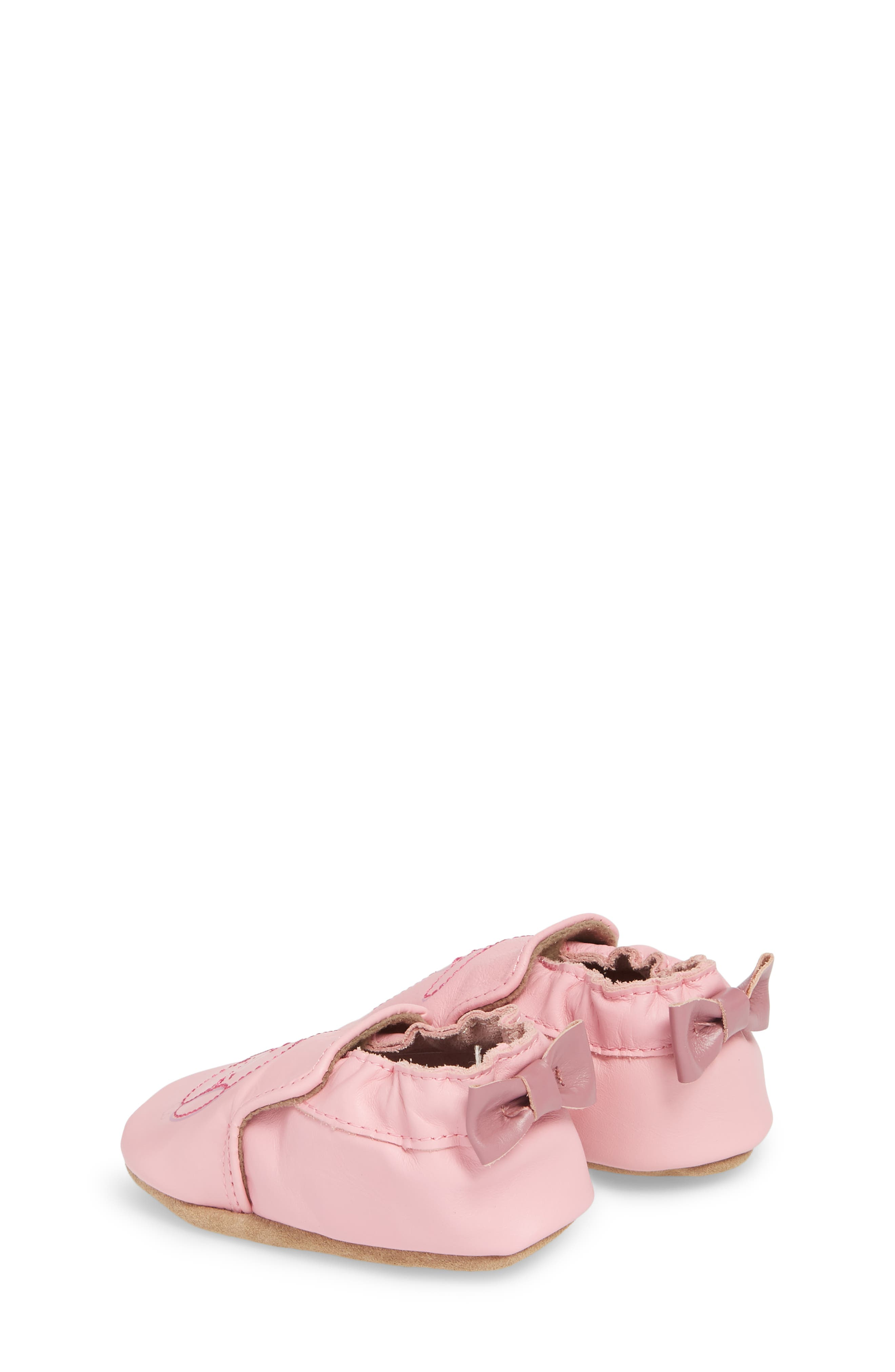 Sweet Bunny Moccasin Crib Shoe,                             Alternate thumbnail 2, color,                             PASTEL PINK