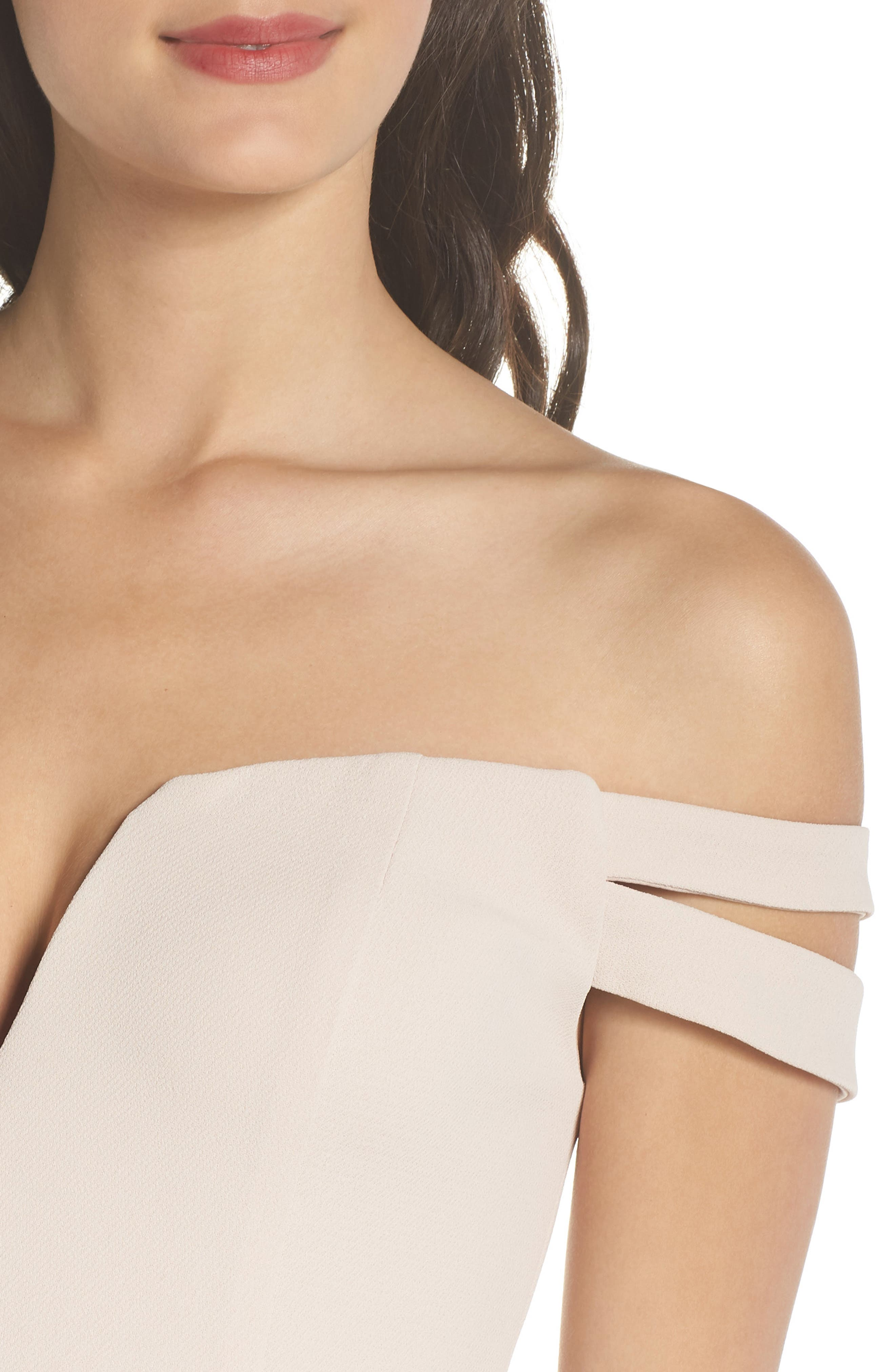 Off the Shoulder Trumpet Gown,                             Alternate thumbnail 4, color,                             680