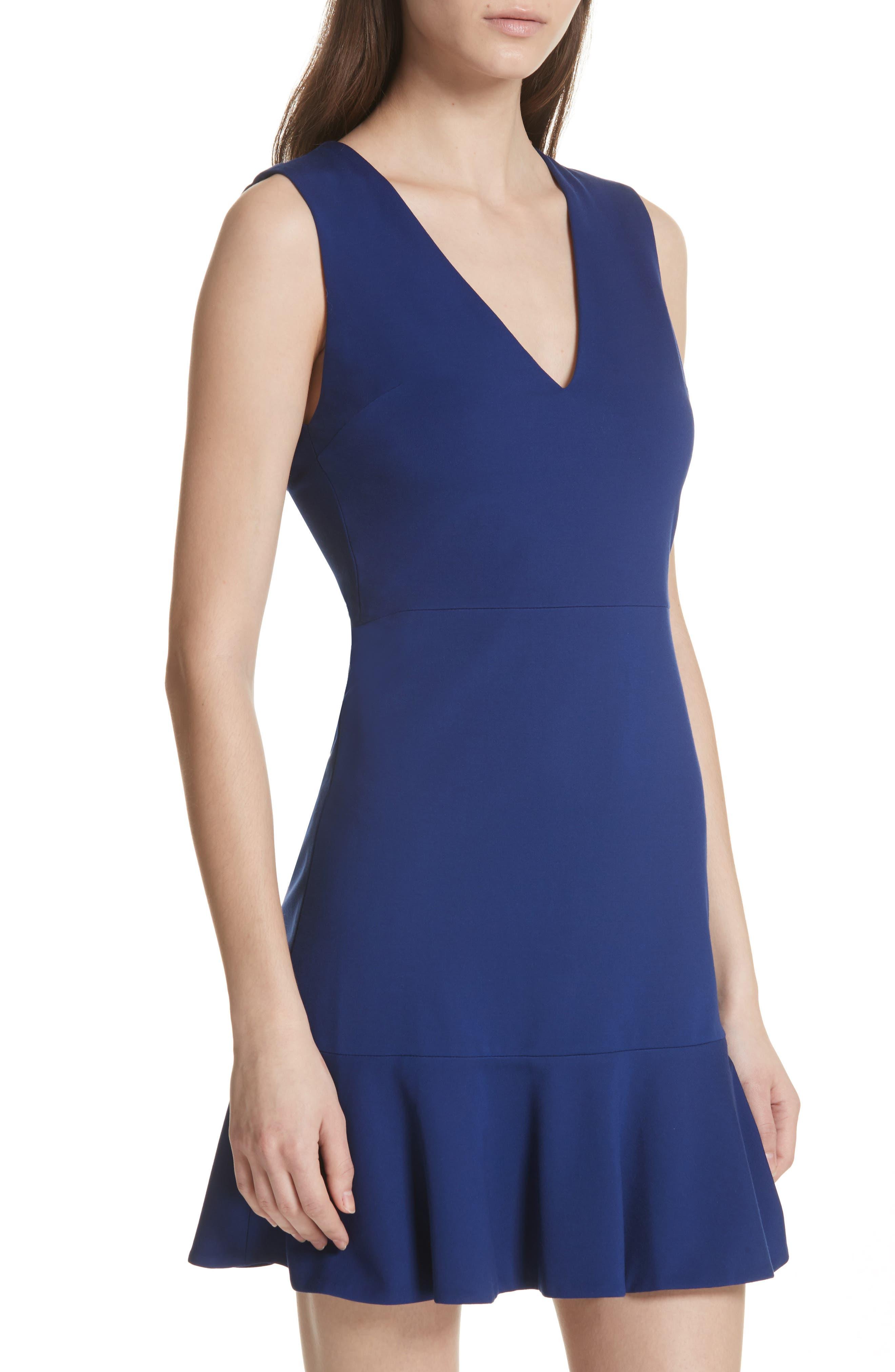 Onella Peplum Hem Fit & Flare Dress,                             Alternate thumbnail 4, color,                             460