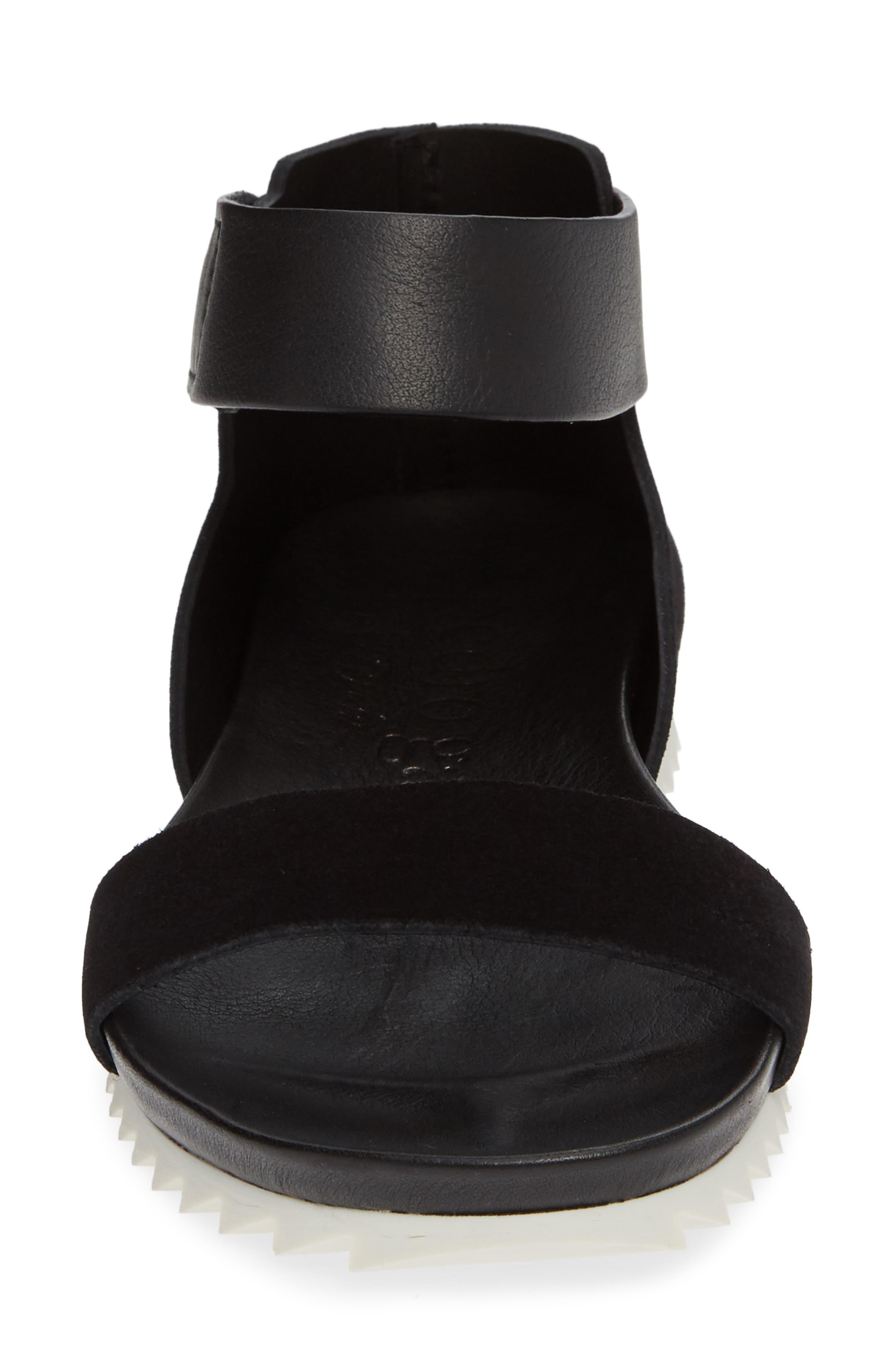 Jenile Ankle Cuff Sandal,                             Alternate thumbnail 4, color,                             BLACK CASTORO