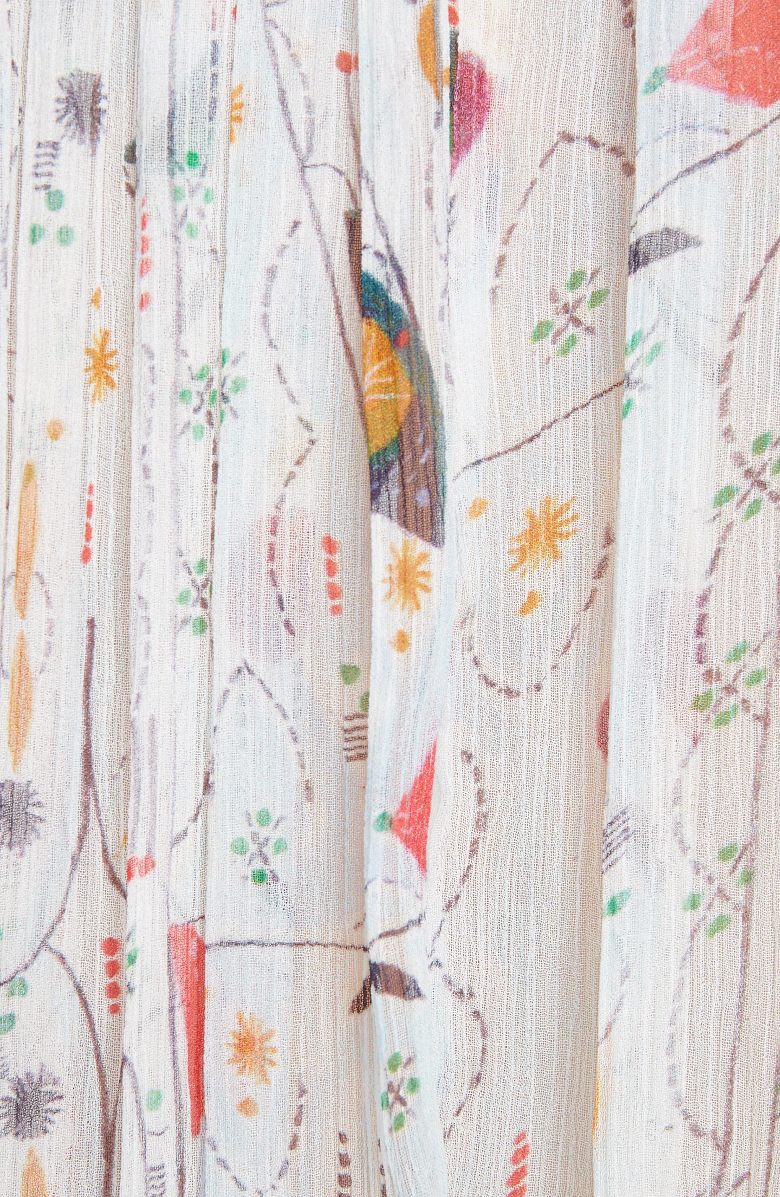 Isabel Marant Étoile Erell Print Silk Top,                             Alternate thumbnail 5, color,