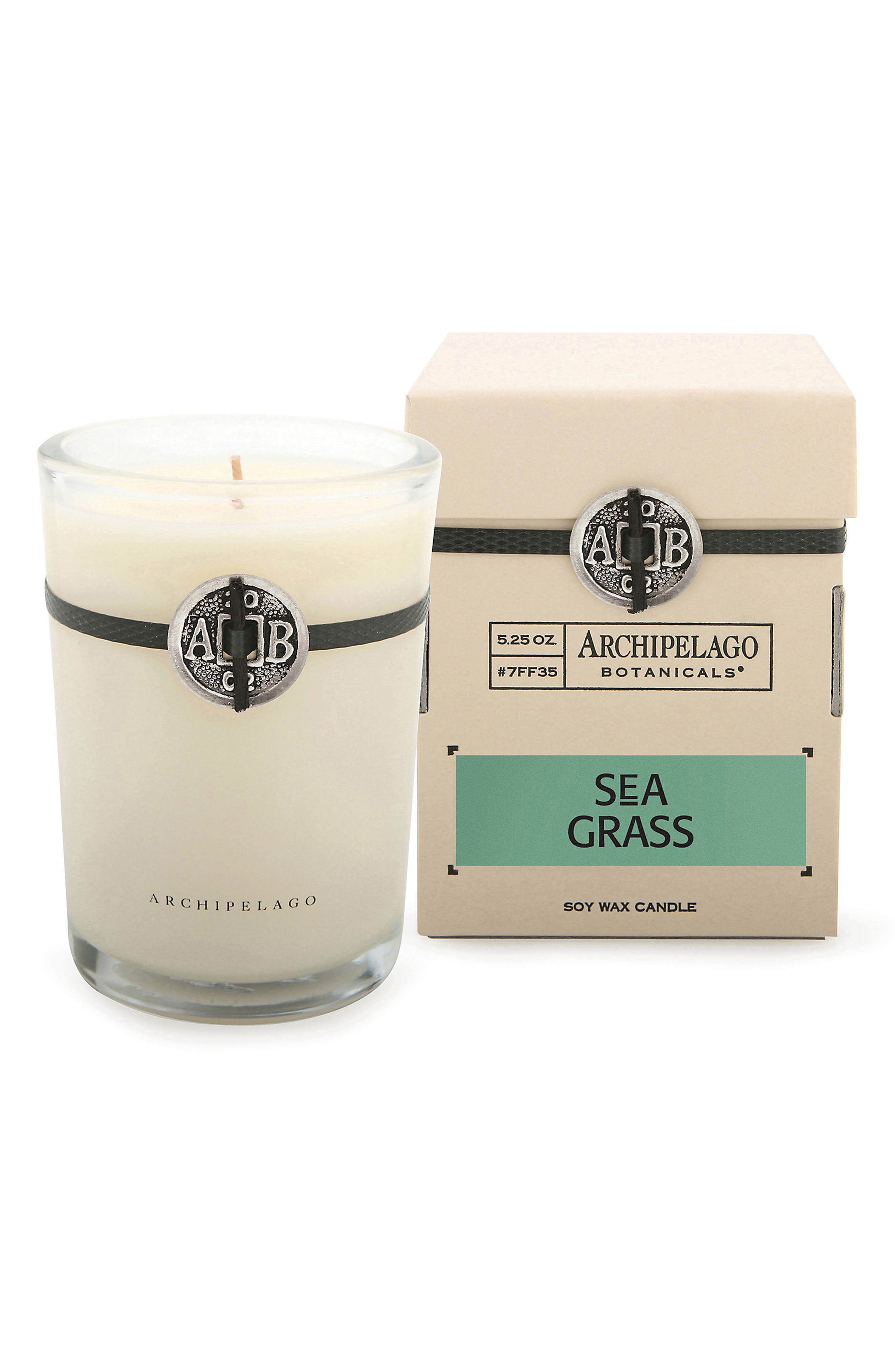 Signature Soy Wax Candle, Main, color, SEAGRASS