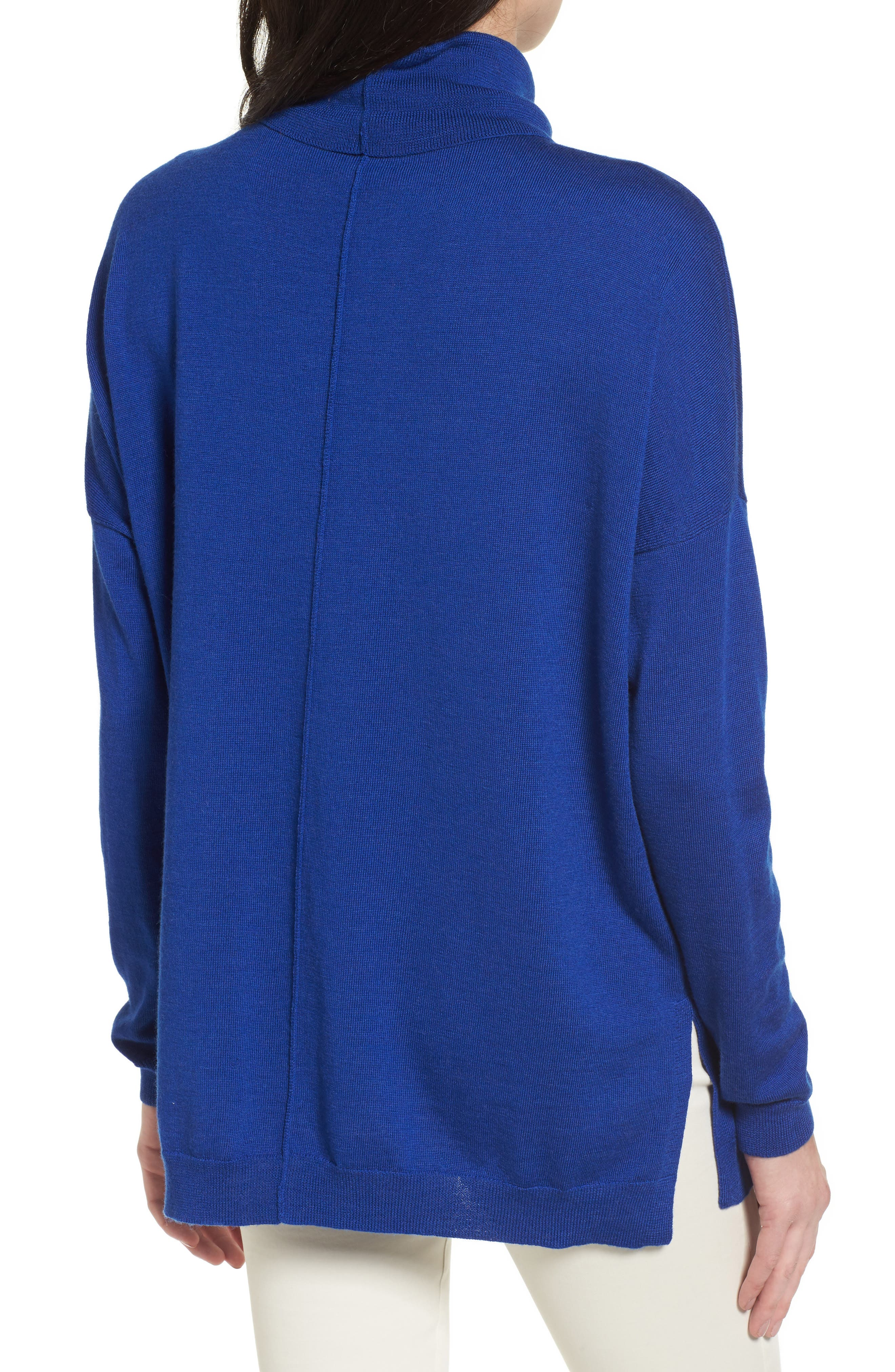 Merino Wool Boxy Turtleneck Sweater,                             Alternate thumbnail 10, color,