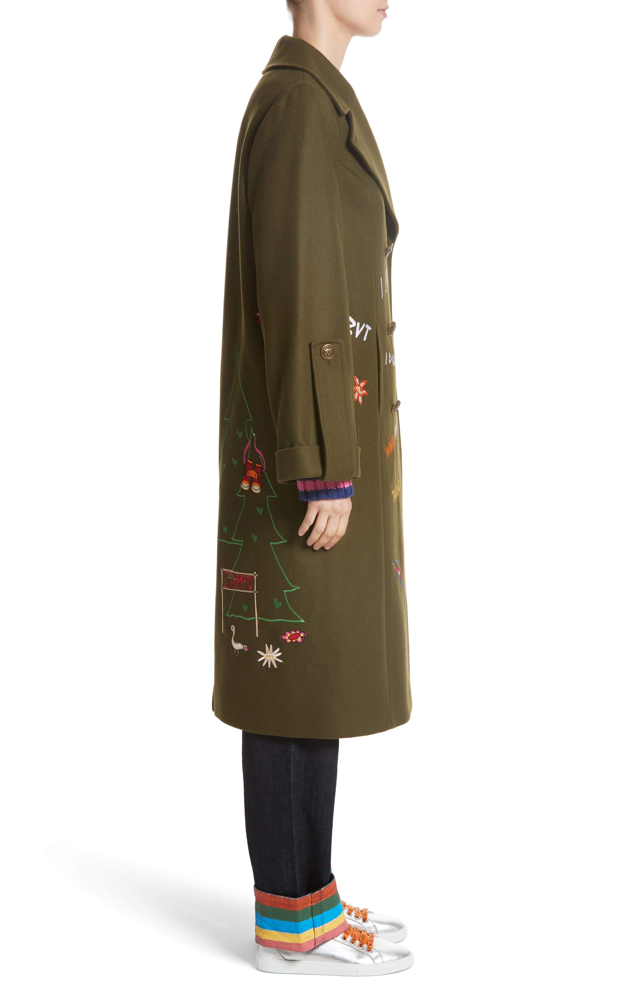 Adventure Embroidered Coat,                             Alternate thumbnail 3, color,                             340