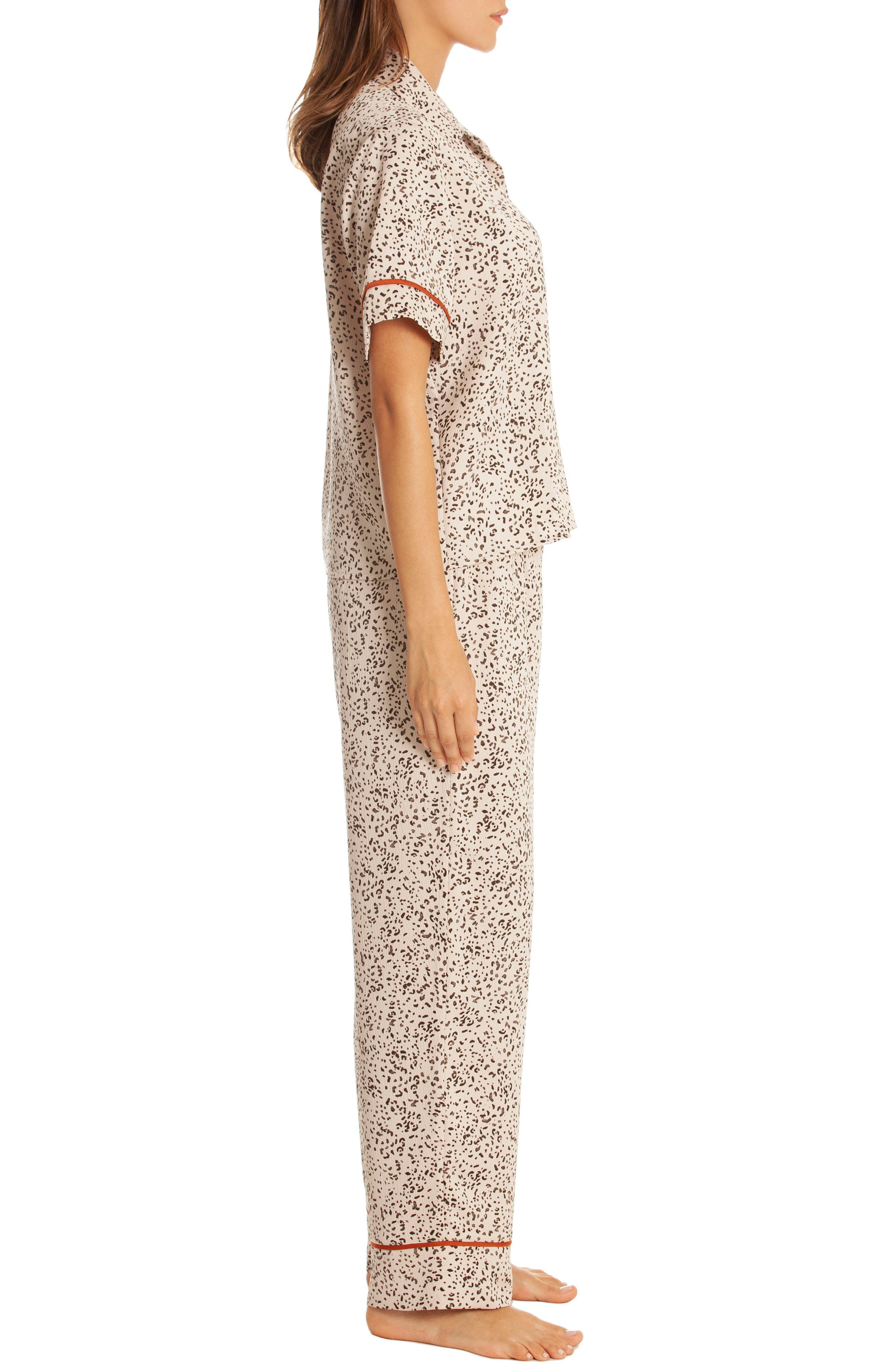 Dolce Pajamas,                             Alternate thumbnail 3, color,                             DOLCE TAUPE ANIMAL PRINT