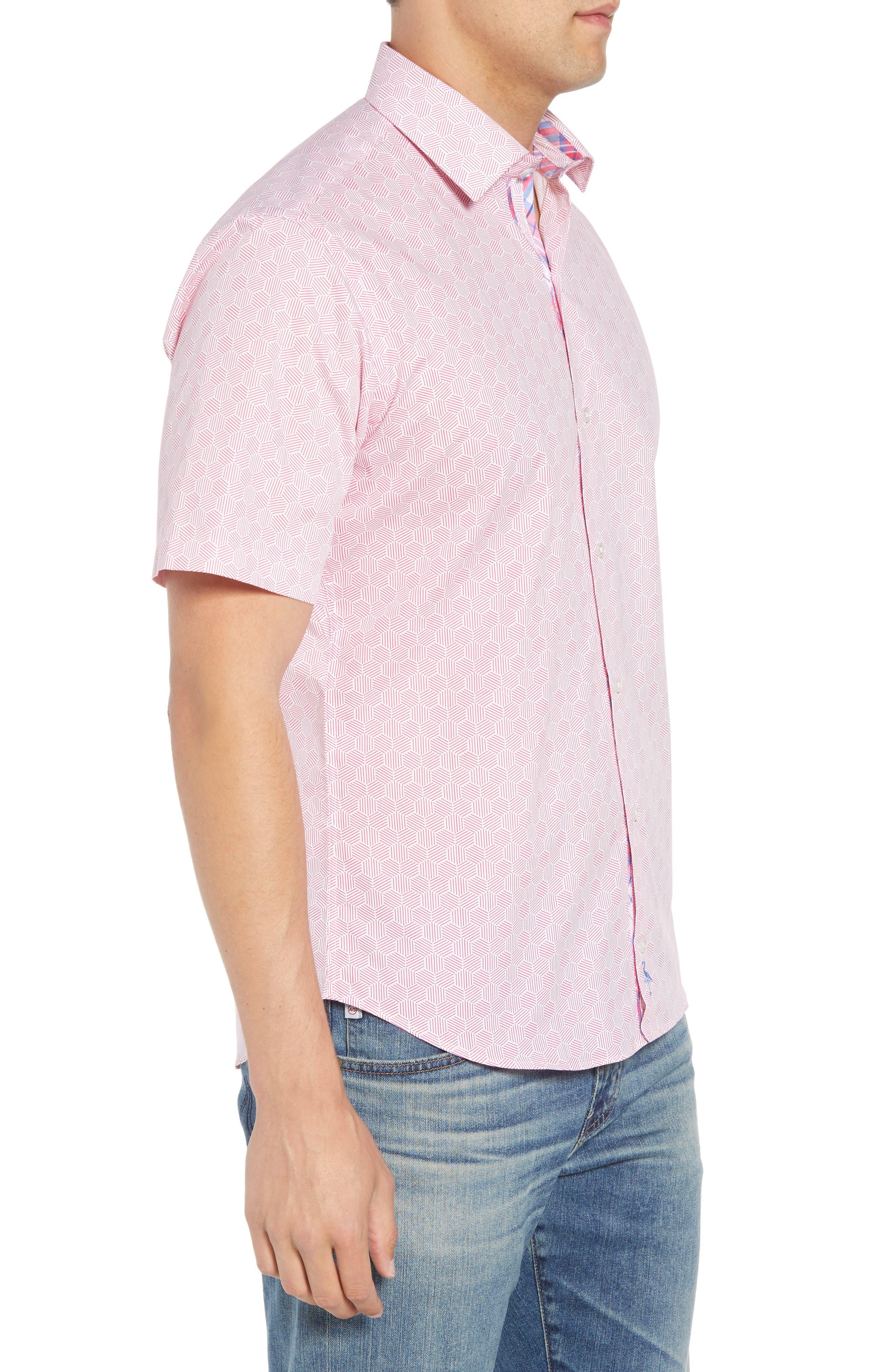 Averon Regular Fit Print Sport Shirt,                             Alternate thumbnail 3, color,                             650