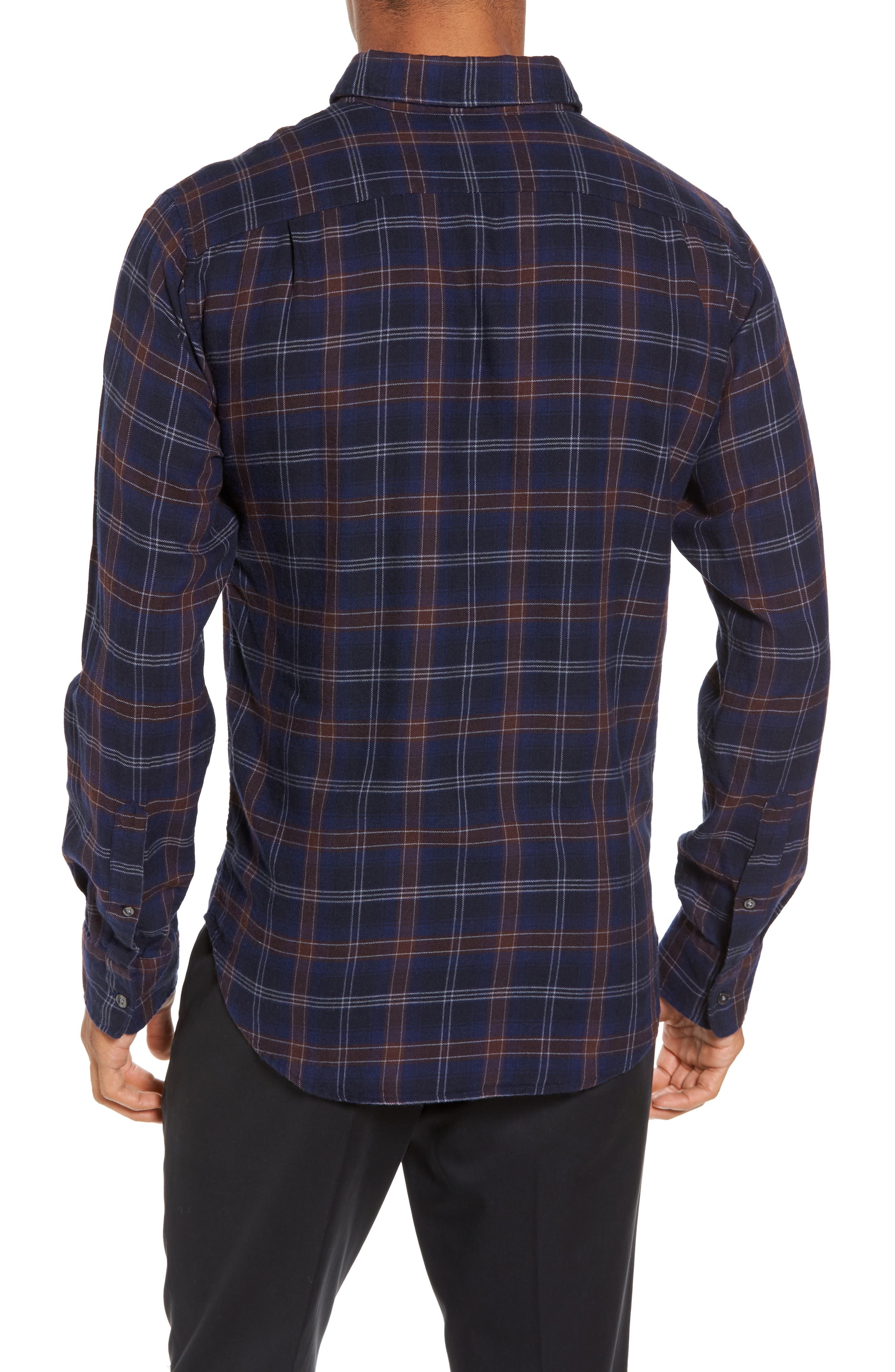 Slim Fit Check Brushed Twill Sport Shirt,                             Alternate thumbnail 2, color,                             404