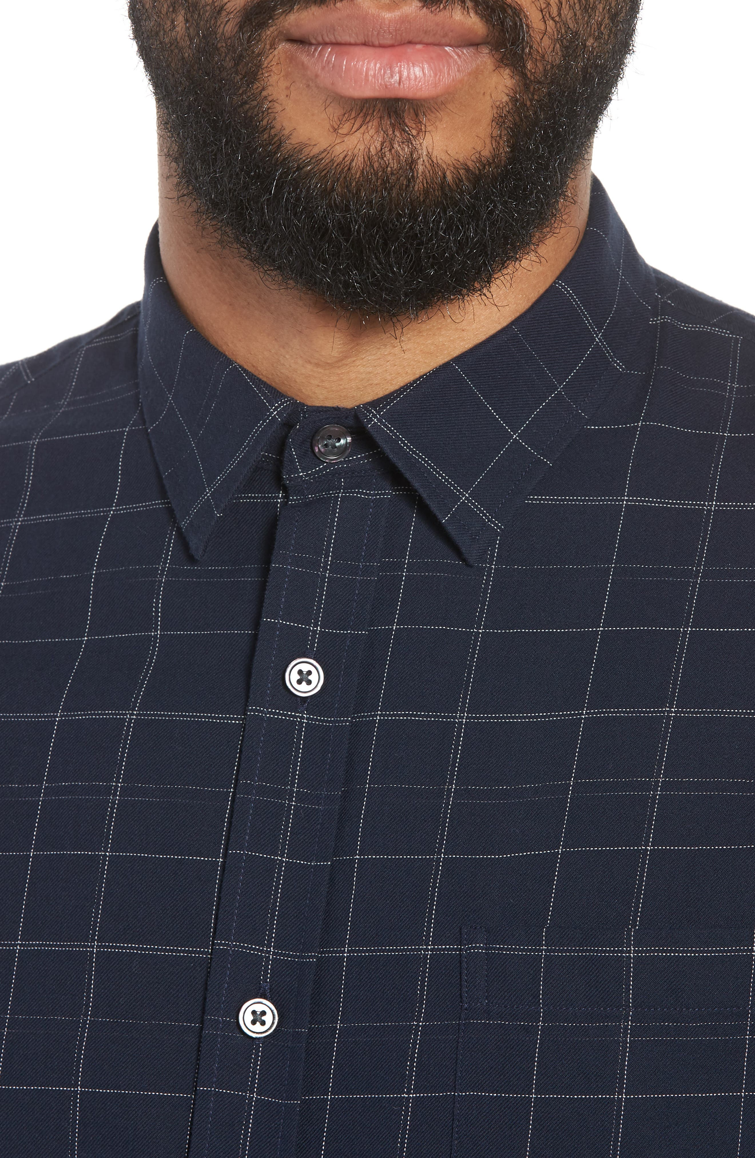 Classic Fit Plaid Sport Shirt,                             Alternate thumbnail 4, color,                             463
