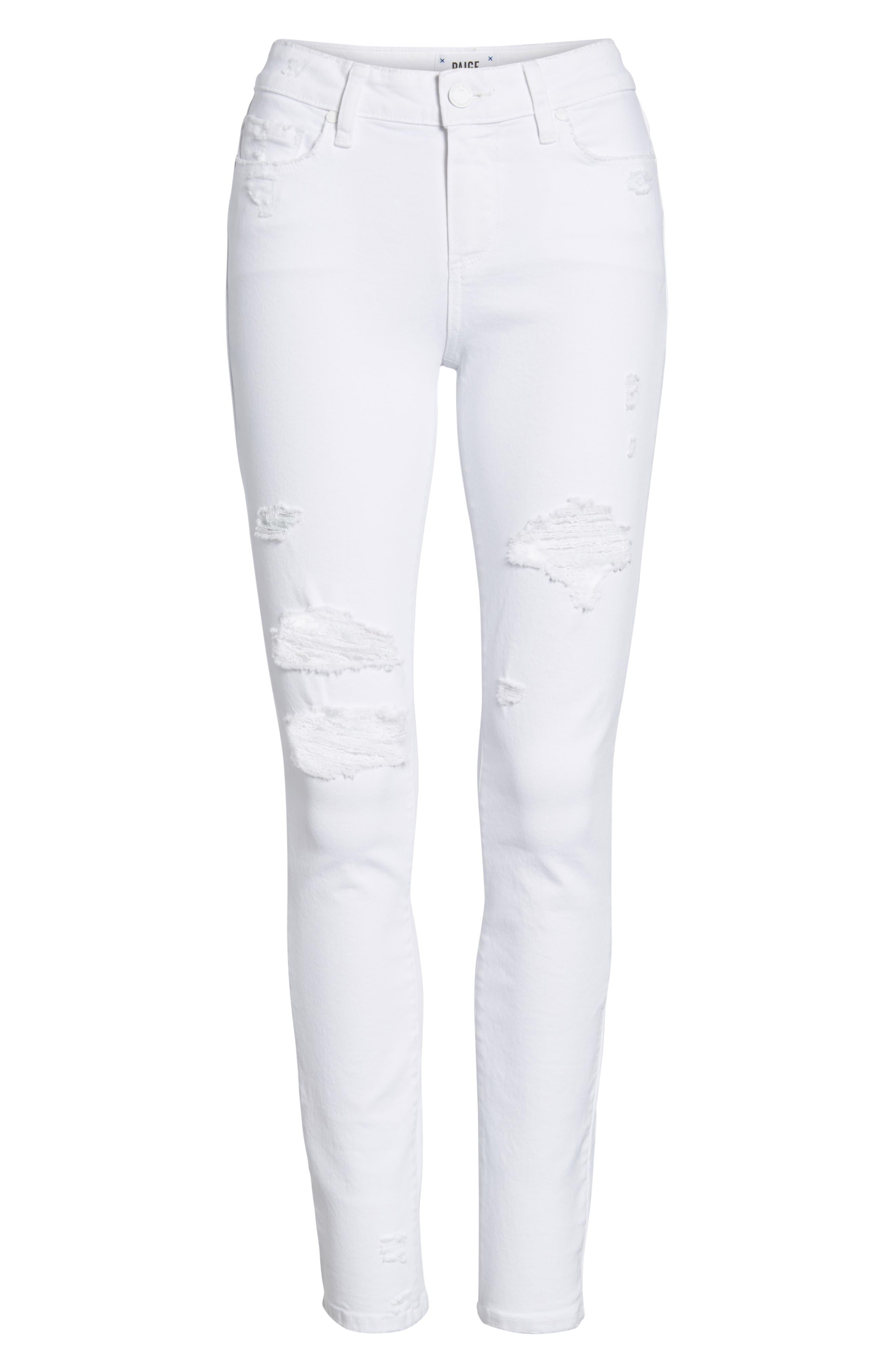 Verdugo Ripped Ultra Skinny Jeans,                             Alternate thumbnail 7, color,                             100