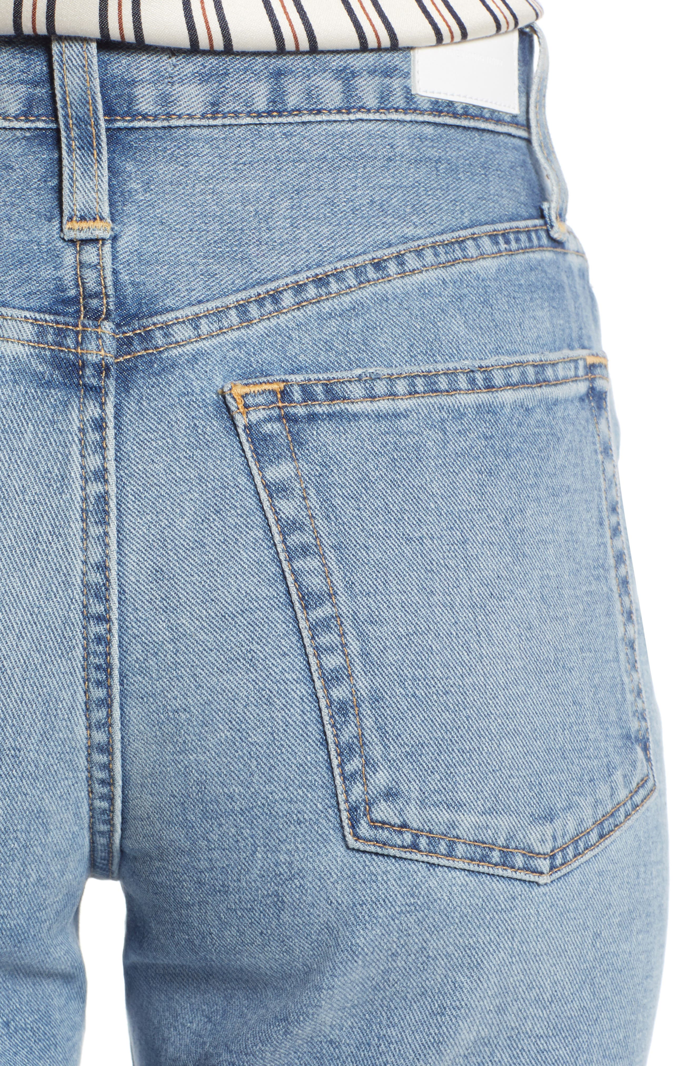 Cigarette Jeans,                             Alternate thumbnail 4, color,                             LIGHT INDIGO WASH