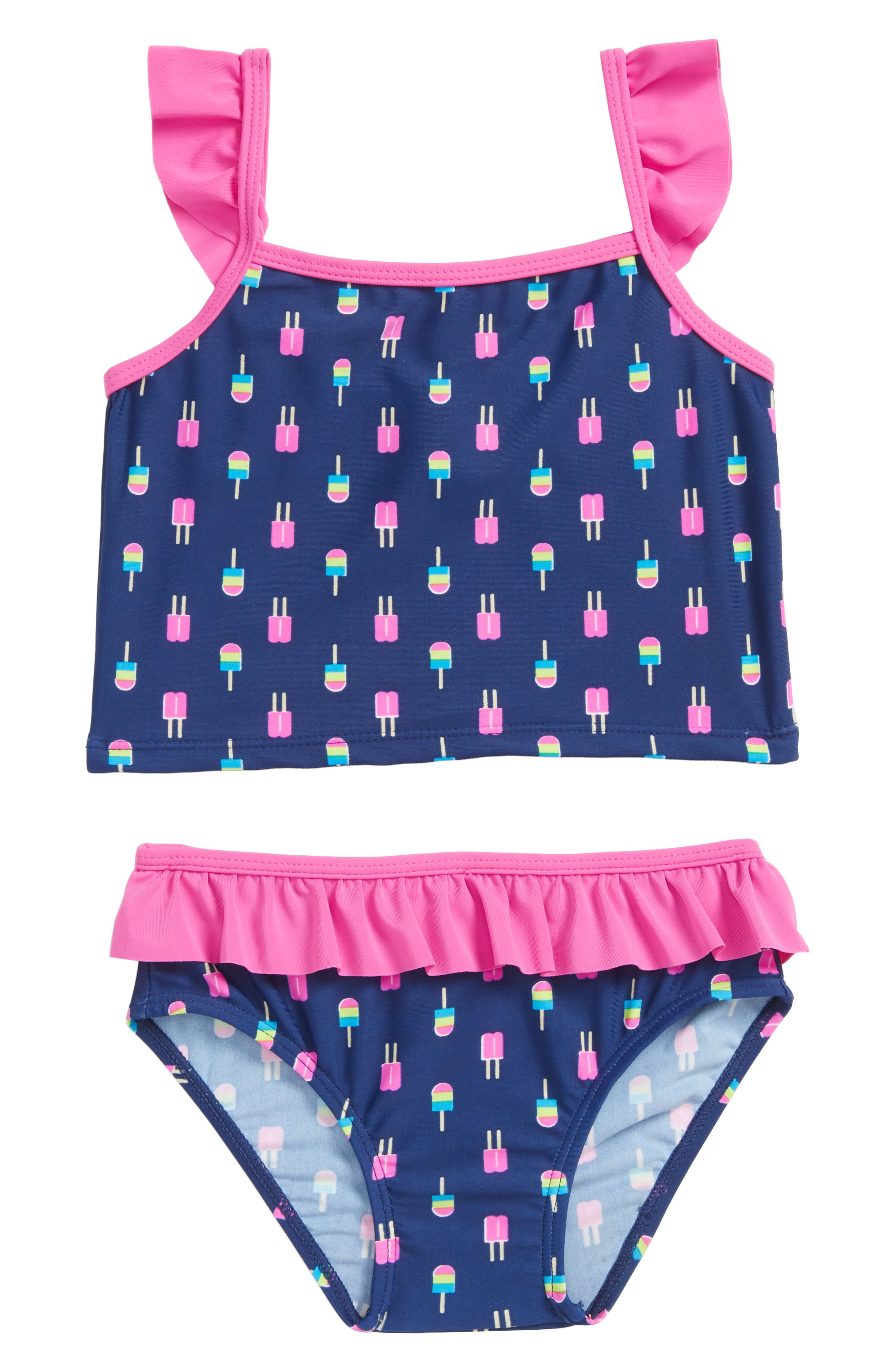 Neon Popsicles Two-Piece Tankini Swimsuit,                             Main thumbnail 1, color,