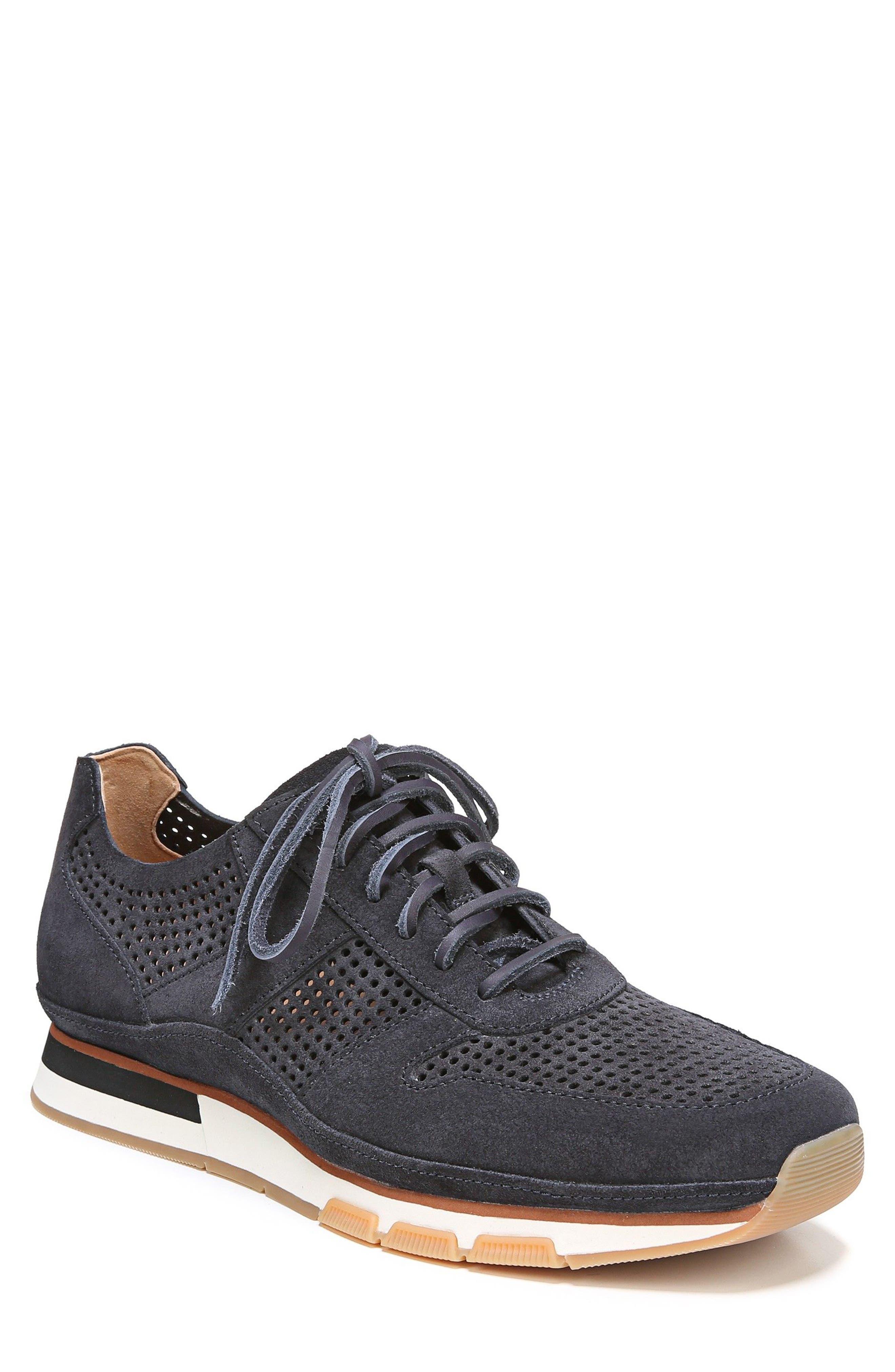 Larson Perforated Sneaker,                         Main,                         color, COASTAL