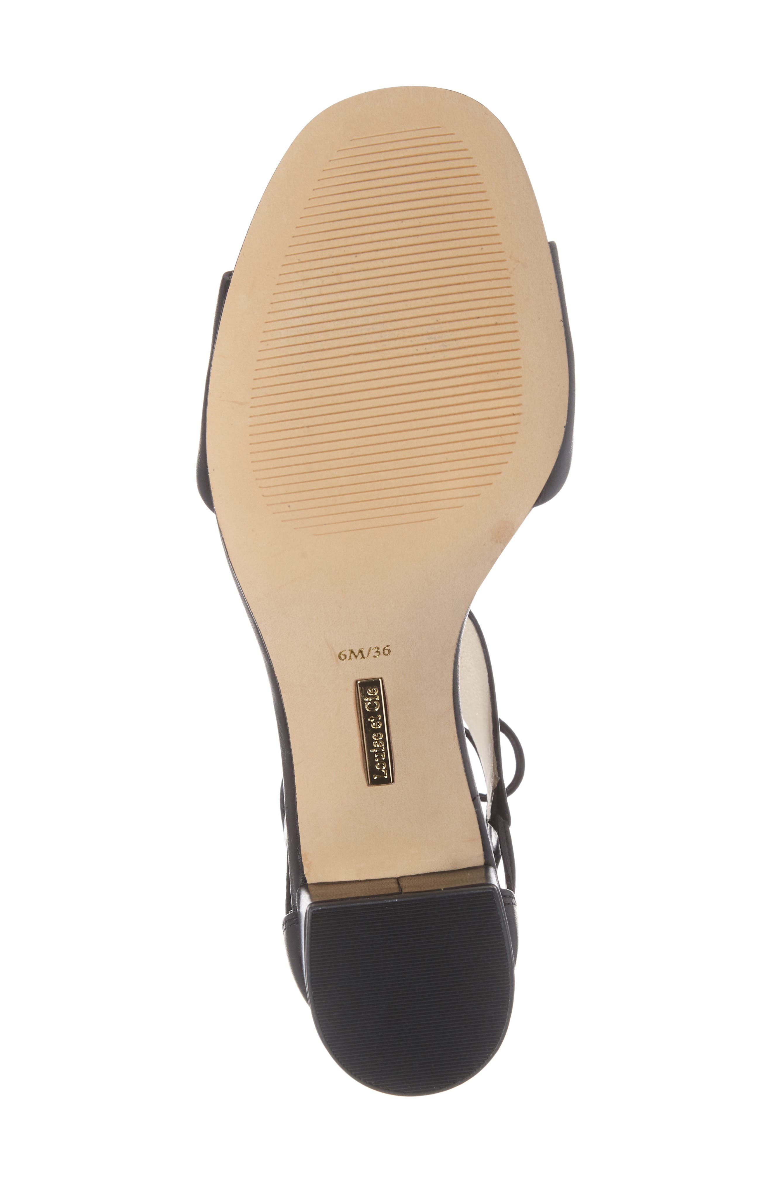 Keegan Block Heel Sandal,                             Alternate thumbnail 4, color,                             001