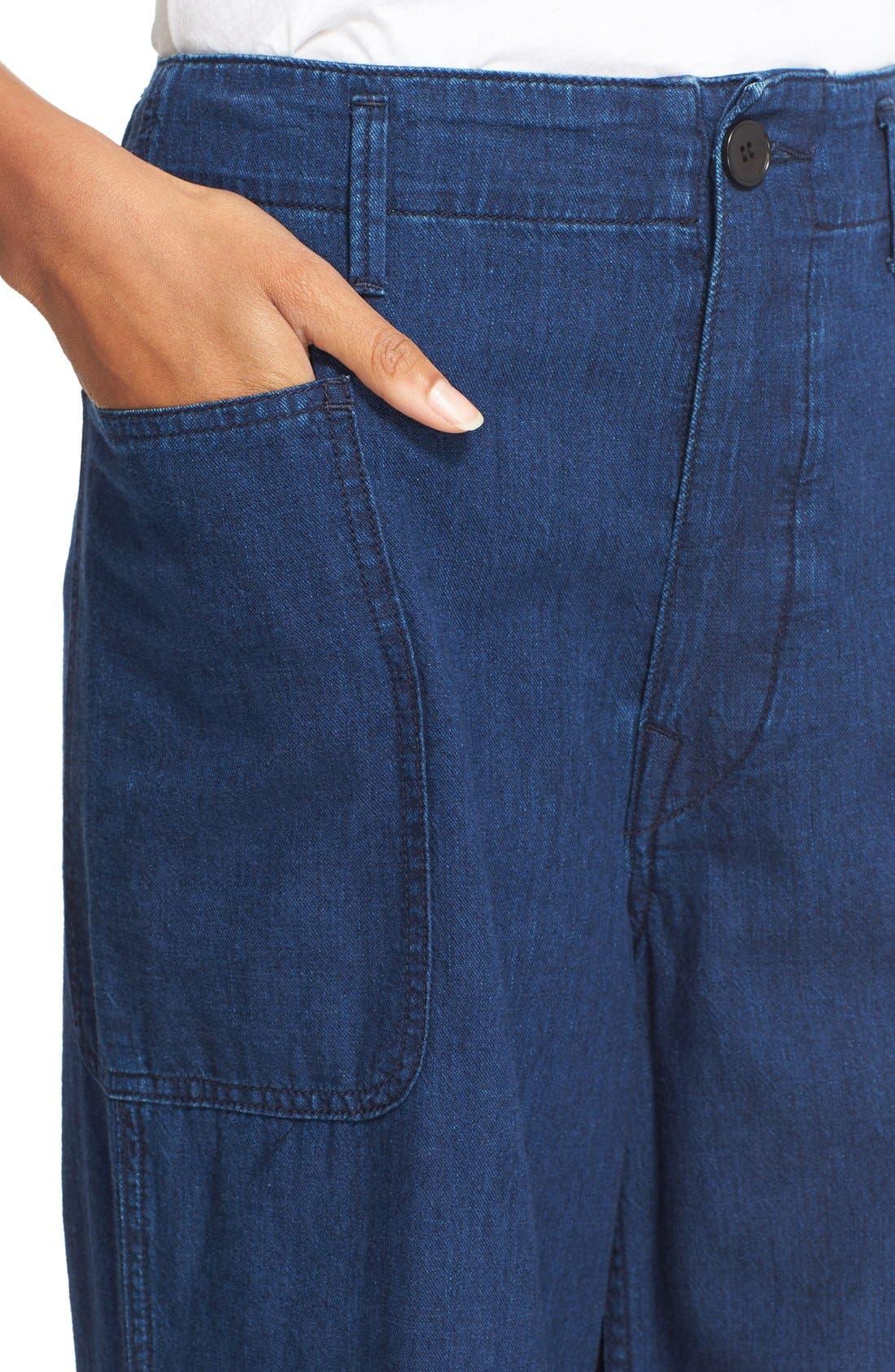 Rinsed Denim Patch Pocket Utility Pants,                             Alternate thumbnail 5, color,                             400