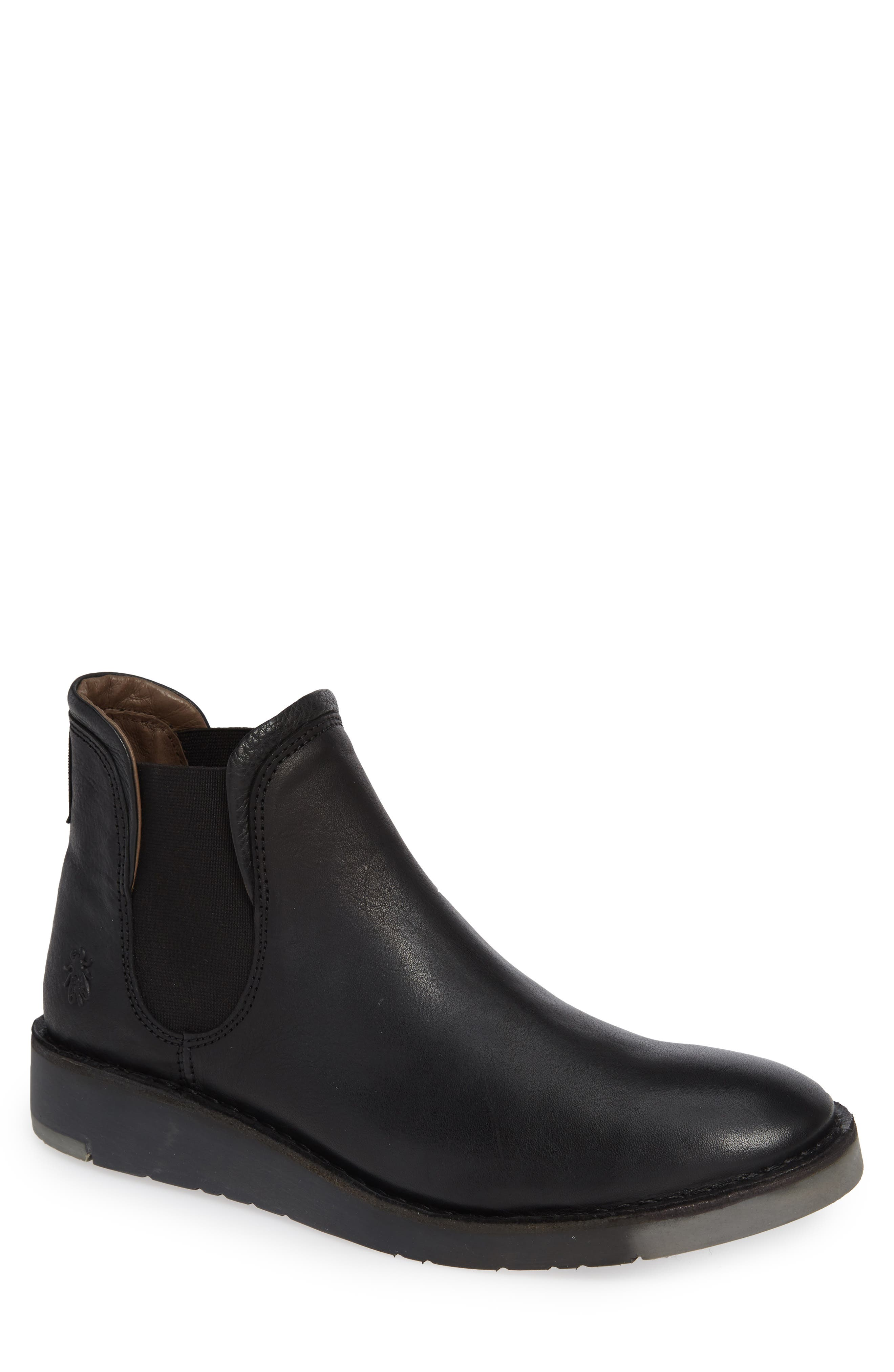 Sern Water Resistant Chelsea Boot,                         Main,                         color, BLACK APSO