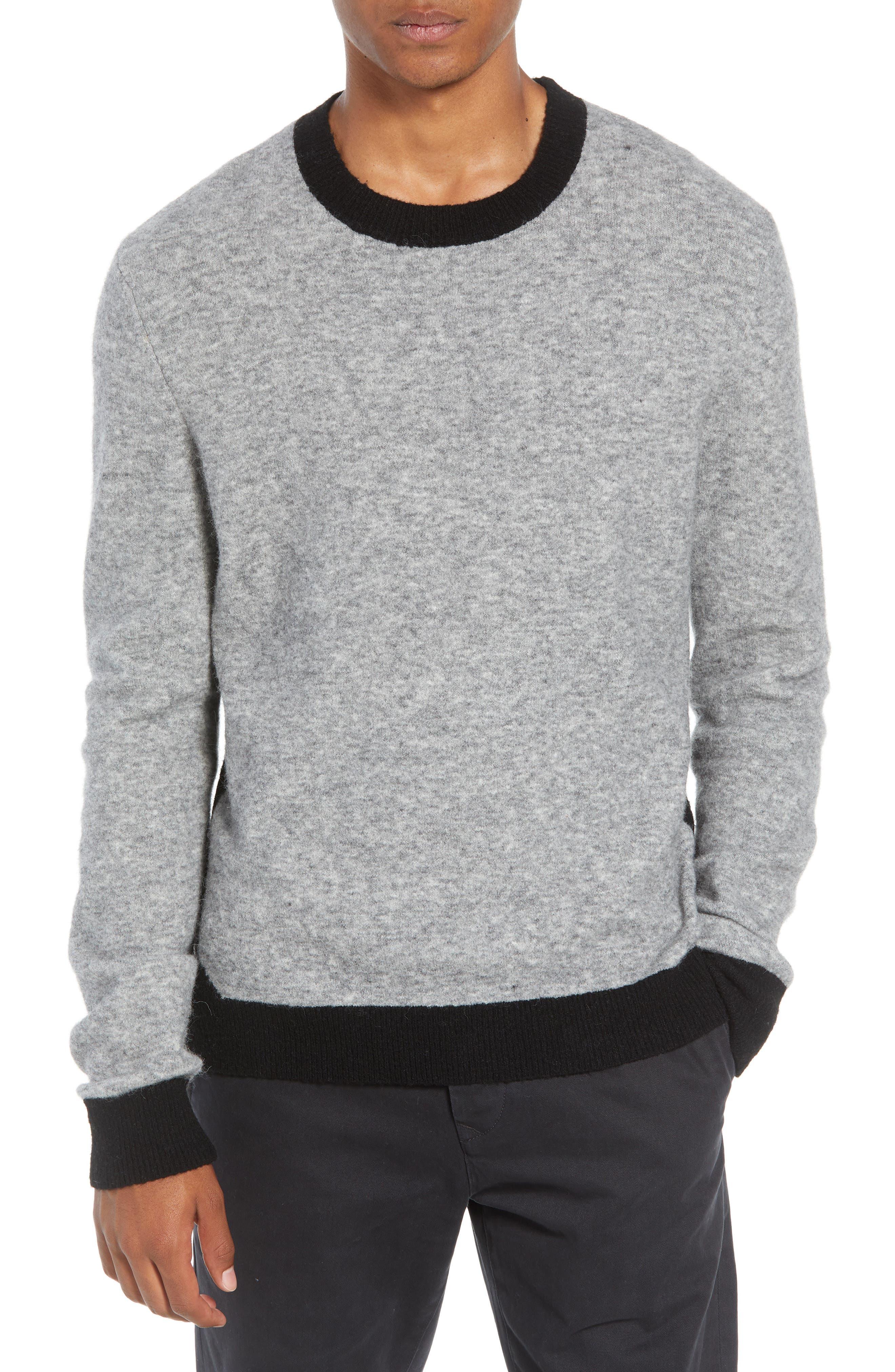 Clermont Slim Fit Crewneck Sweater,                             Main thumbnail 1, color,                             LIGHT HEATHER GREY