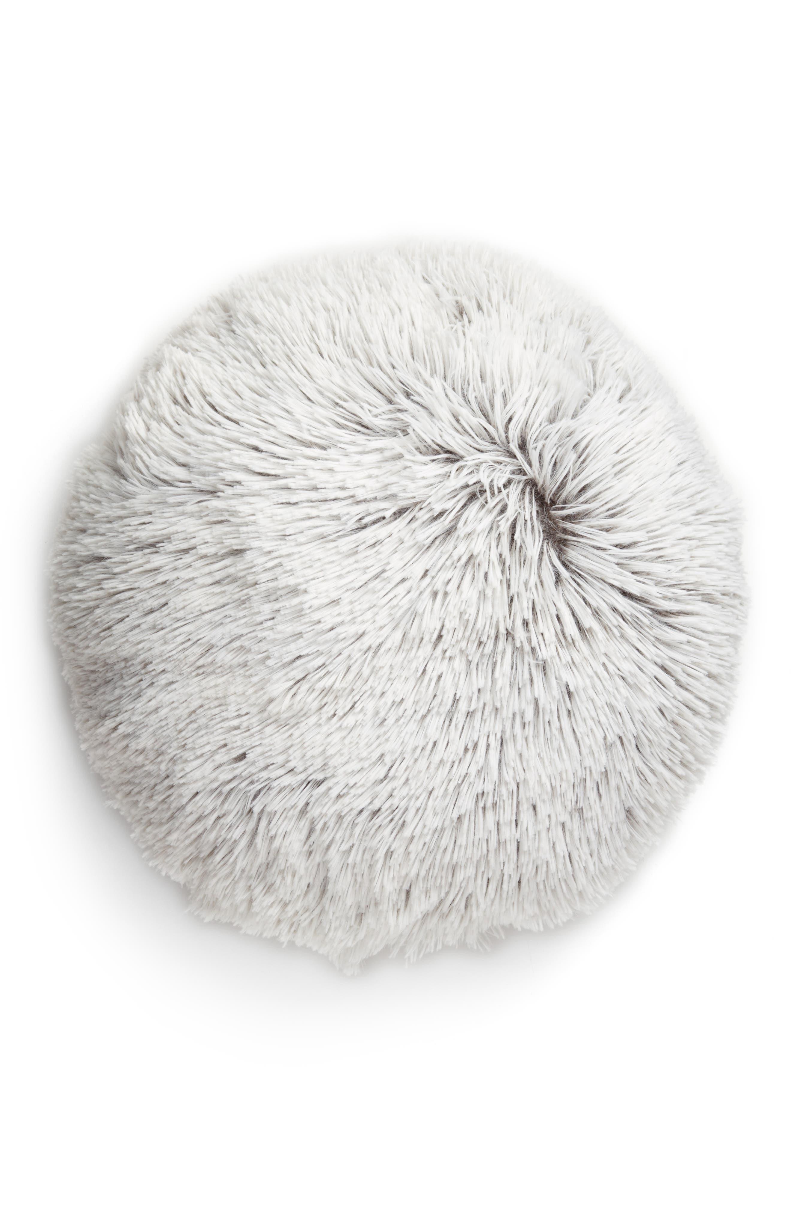 Feather Faux Fur Pillow,                             Main thumbnail 6, color,