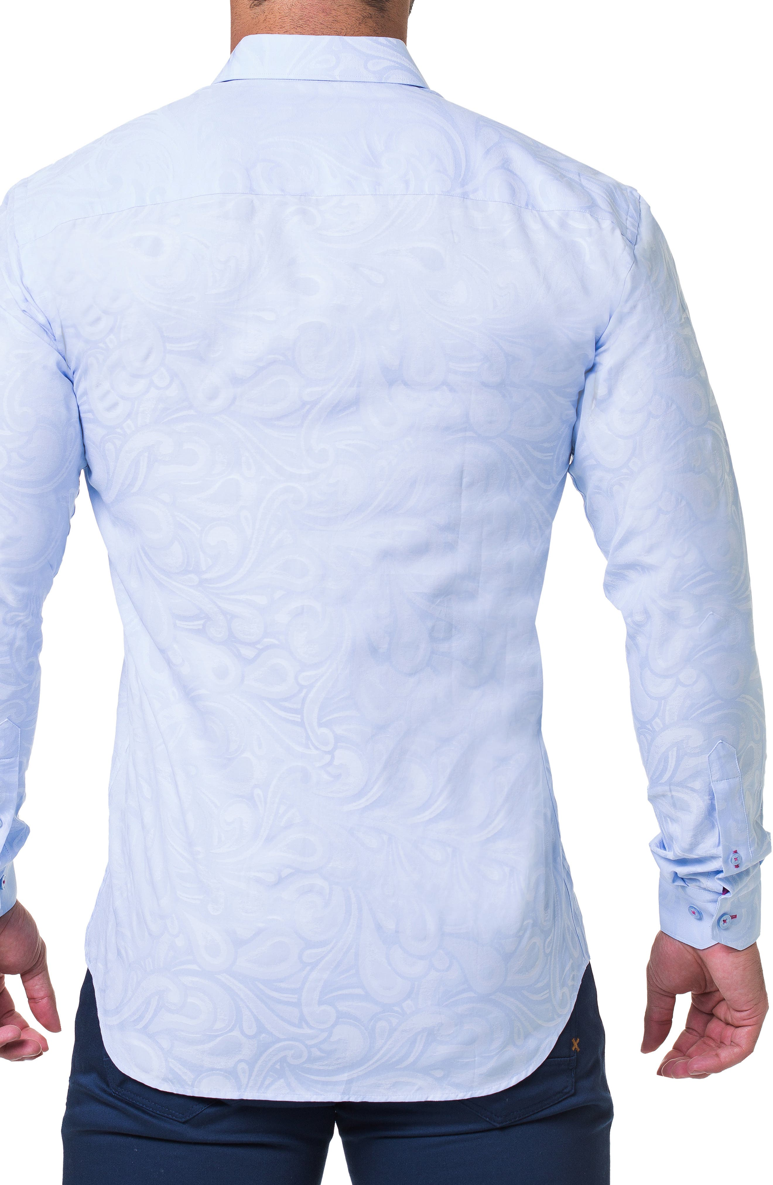 Fibonacci Flow Trim Fit Sport Shirt,                             Alternate thumbnail 2, color,                             BLUE
