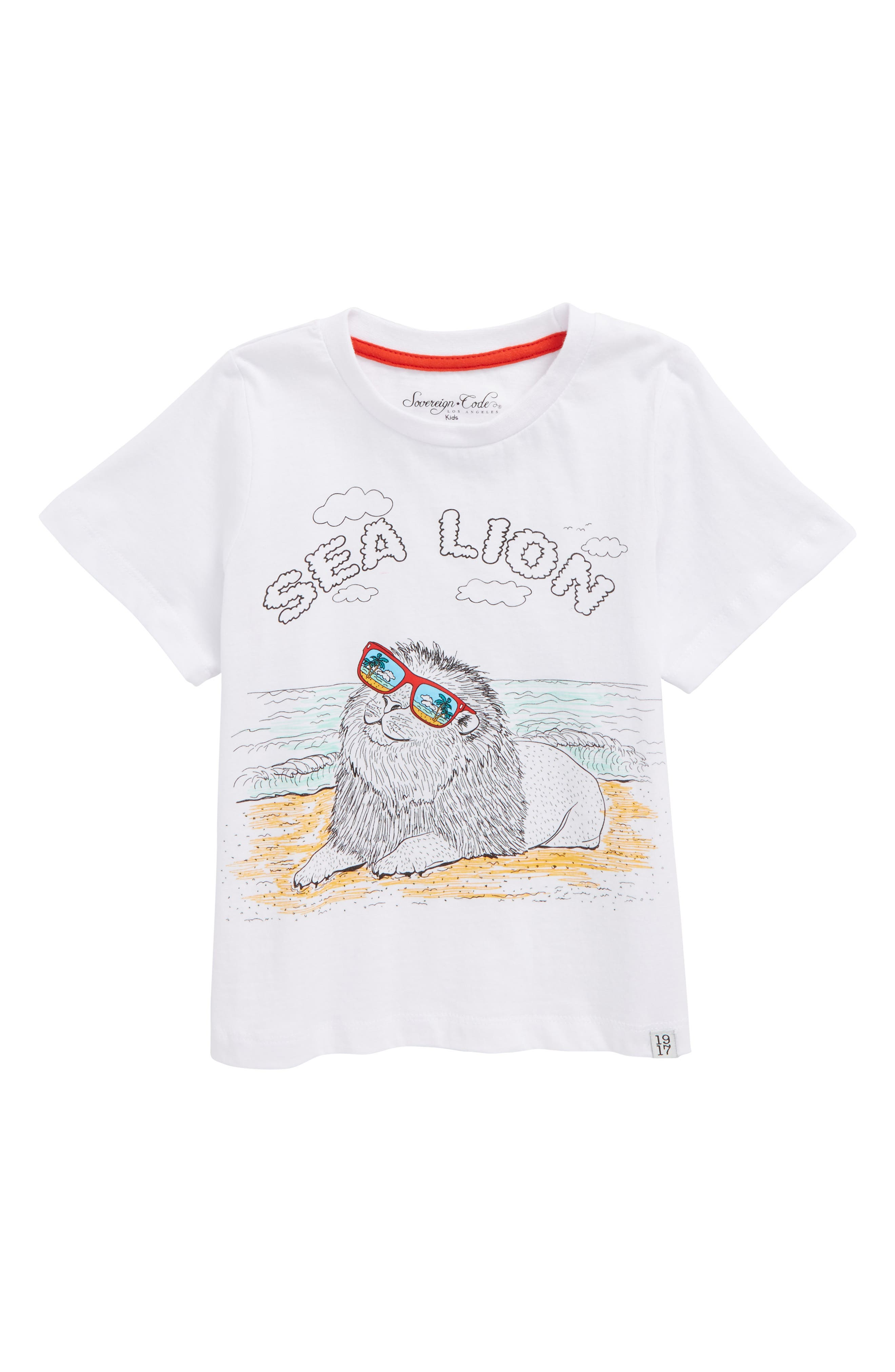 Sea Lion Graphic T-Shirt,                             Main thumbnail 1, color,                             100