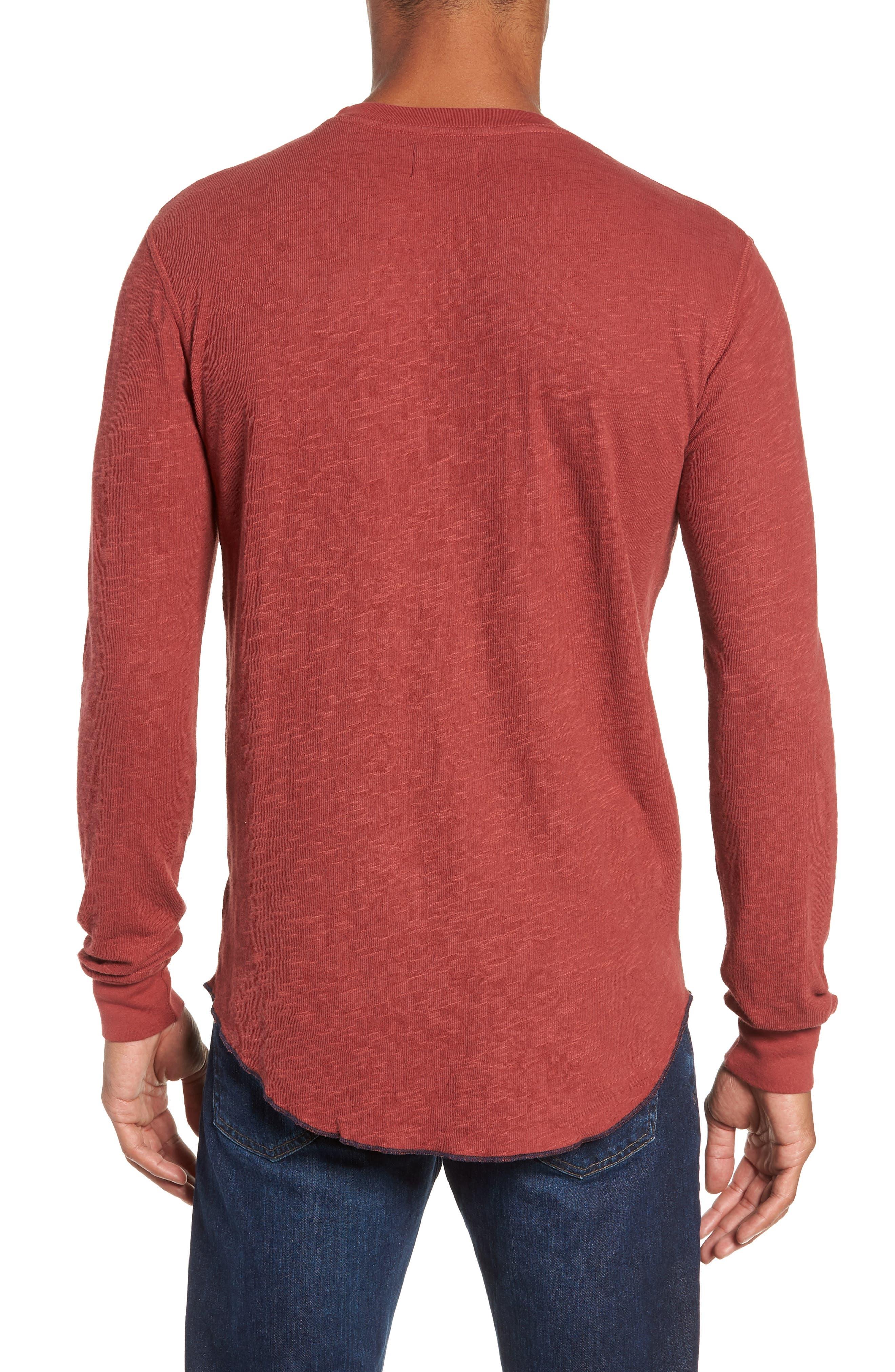 Double Layer Slim Crewneck T-Shirt,                             Alternate thumbnail 9, color,