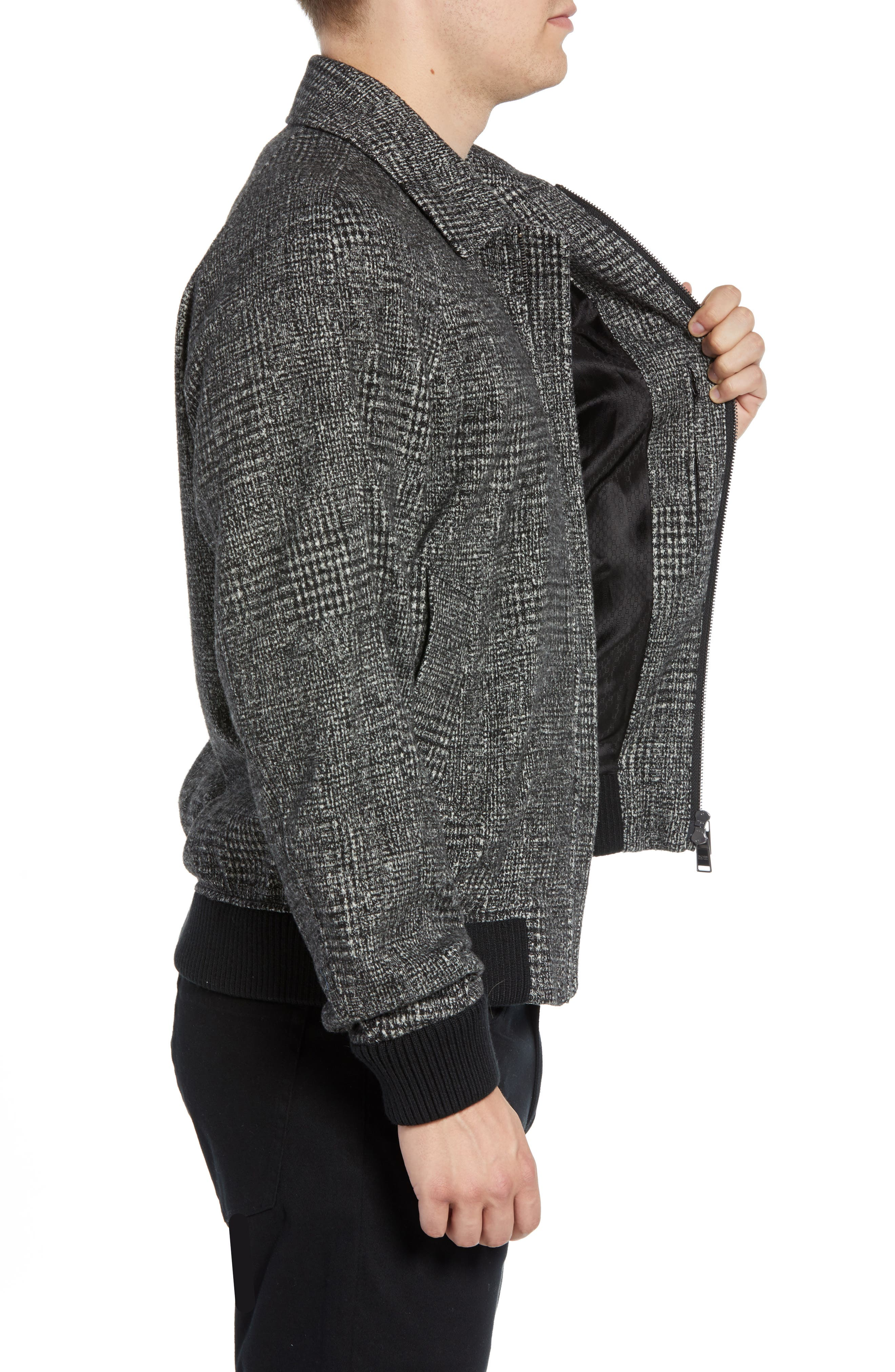 T-Cony Relaxed Fit Wool Blend Jacket,                             Alternate thumbnail 3, color,                             GREY