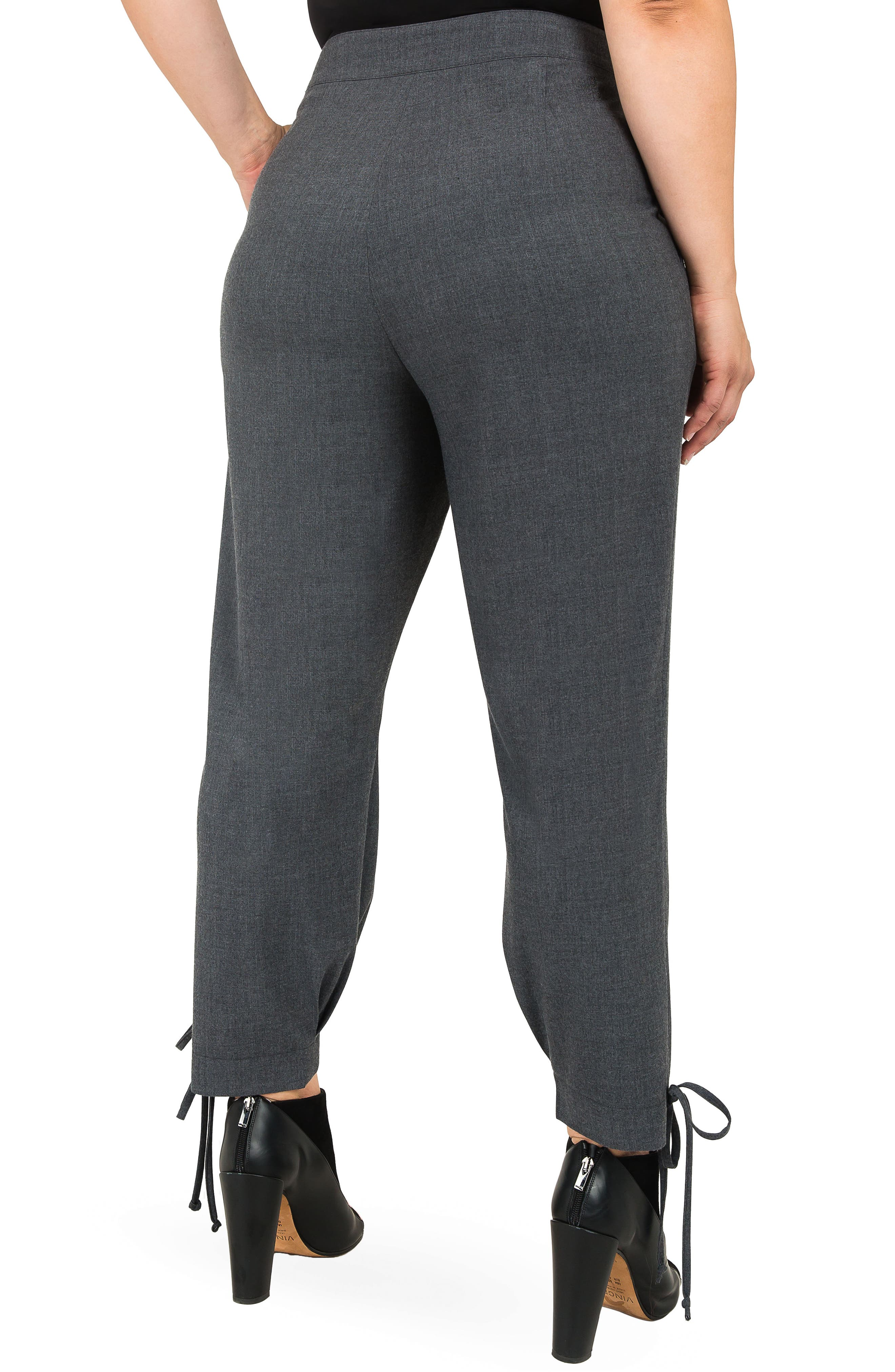Robie Suiting Skinny Trousers,                             Alternate thumbnail 4, color,                             CHARCOAL
