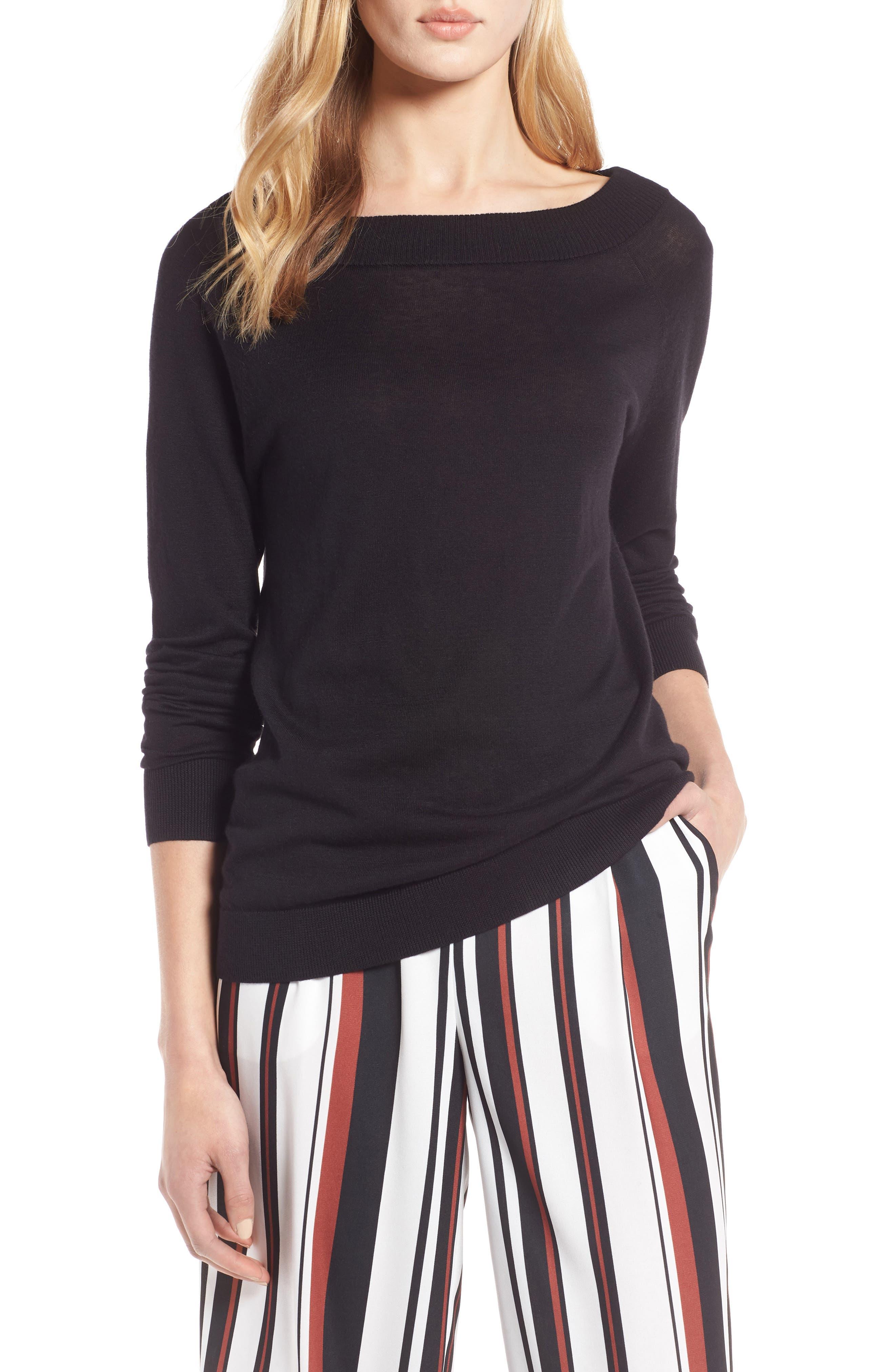 Convertible Bateau Neck Sweater,                         Main,                         color,
